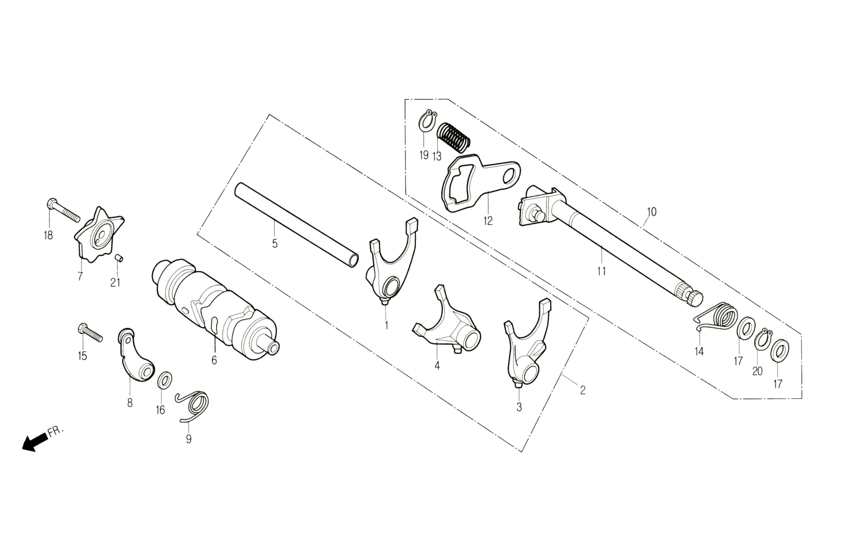 Schaltwelle /-Gabeln