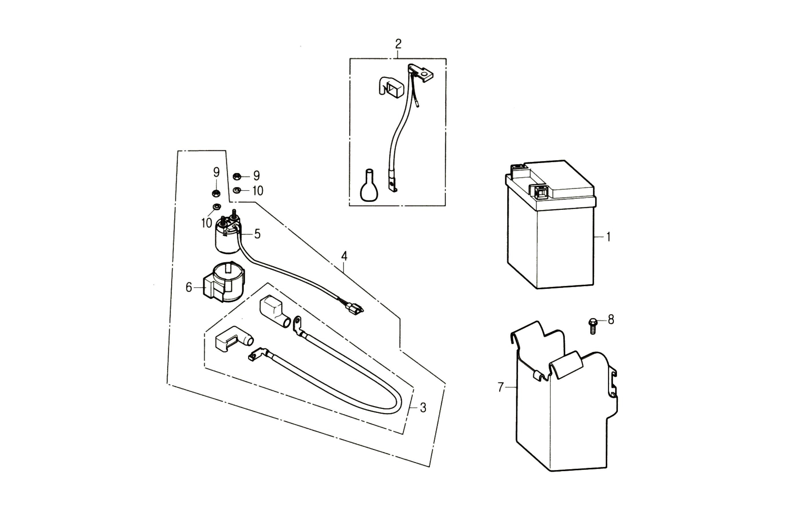 Batterie, Anlasserrelais