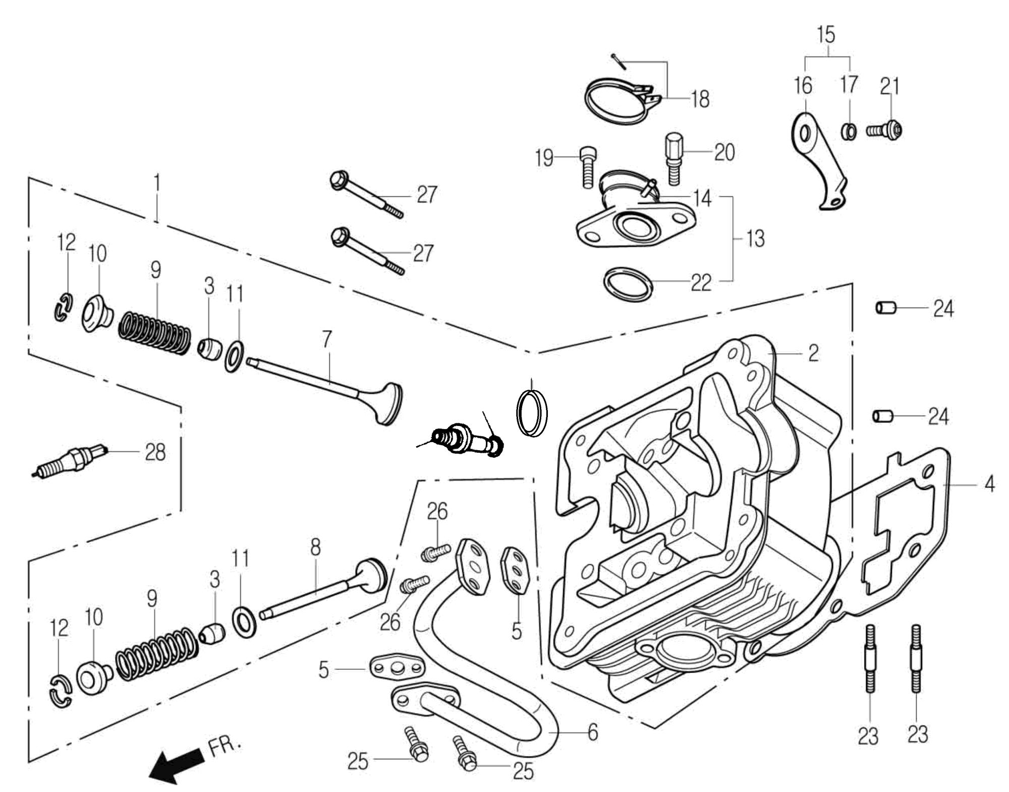 Zylinderkopf / Ventile