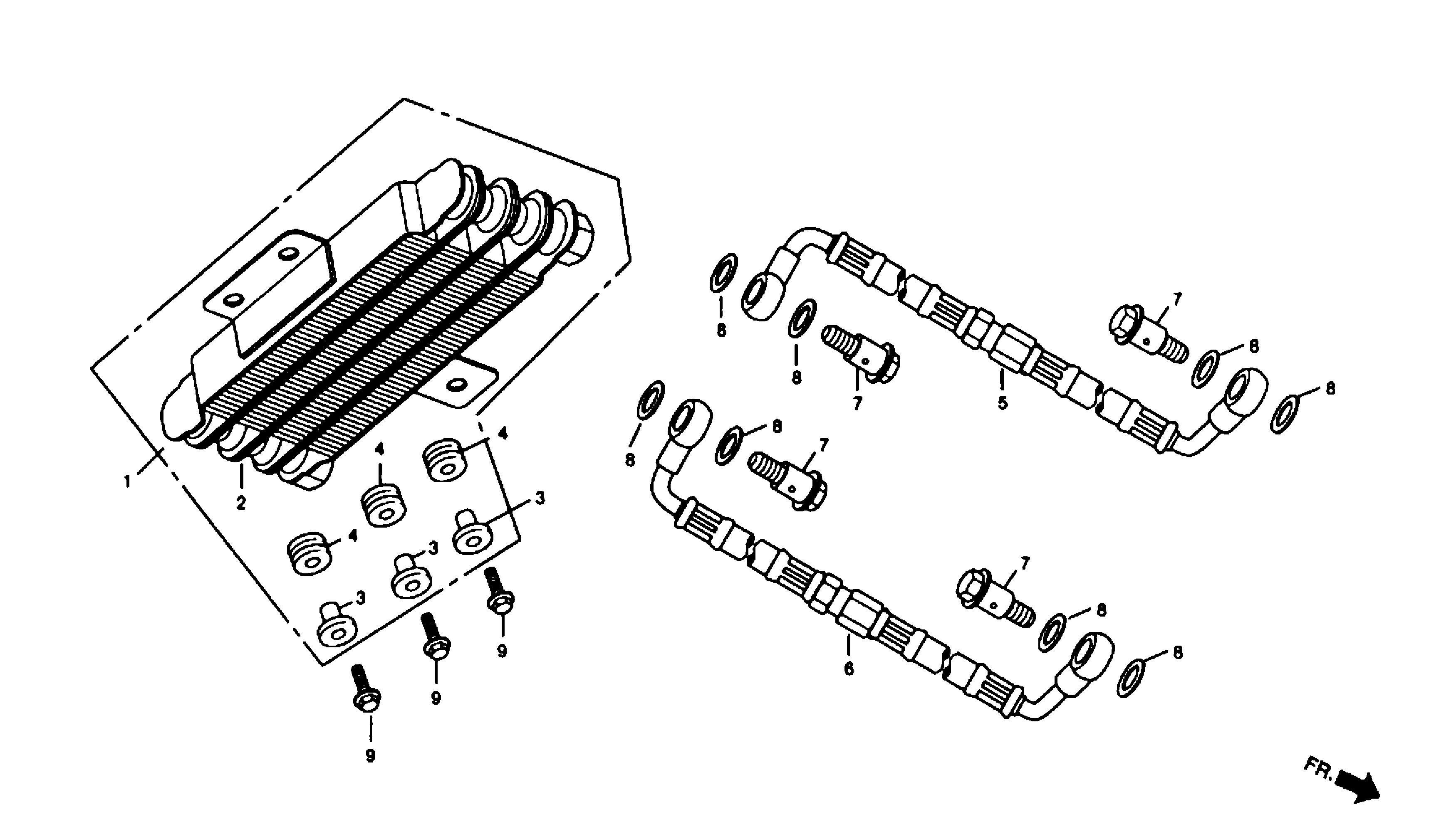 Ölkühler / Ölschläuche