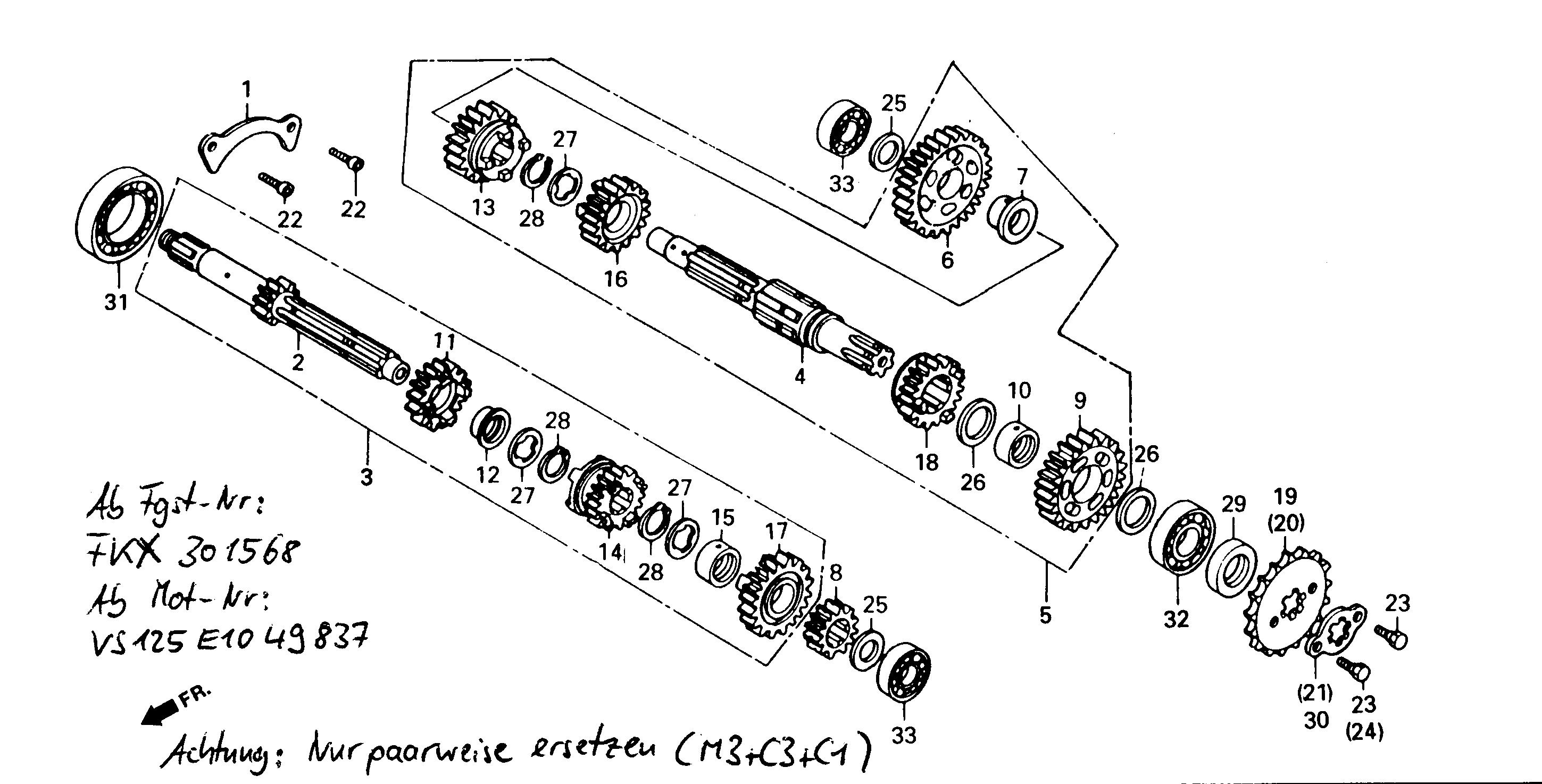 Getriebe ab FgNr.:KMYVS125FKX301568