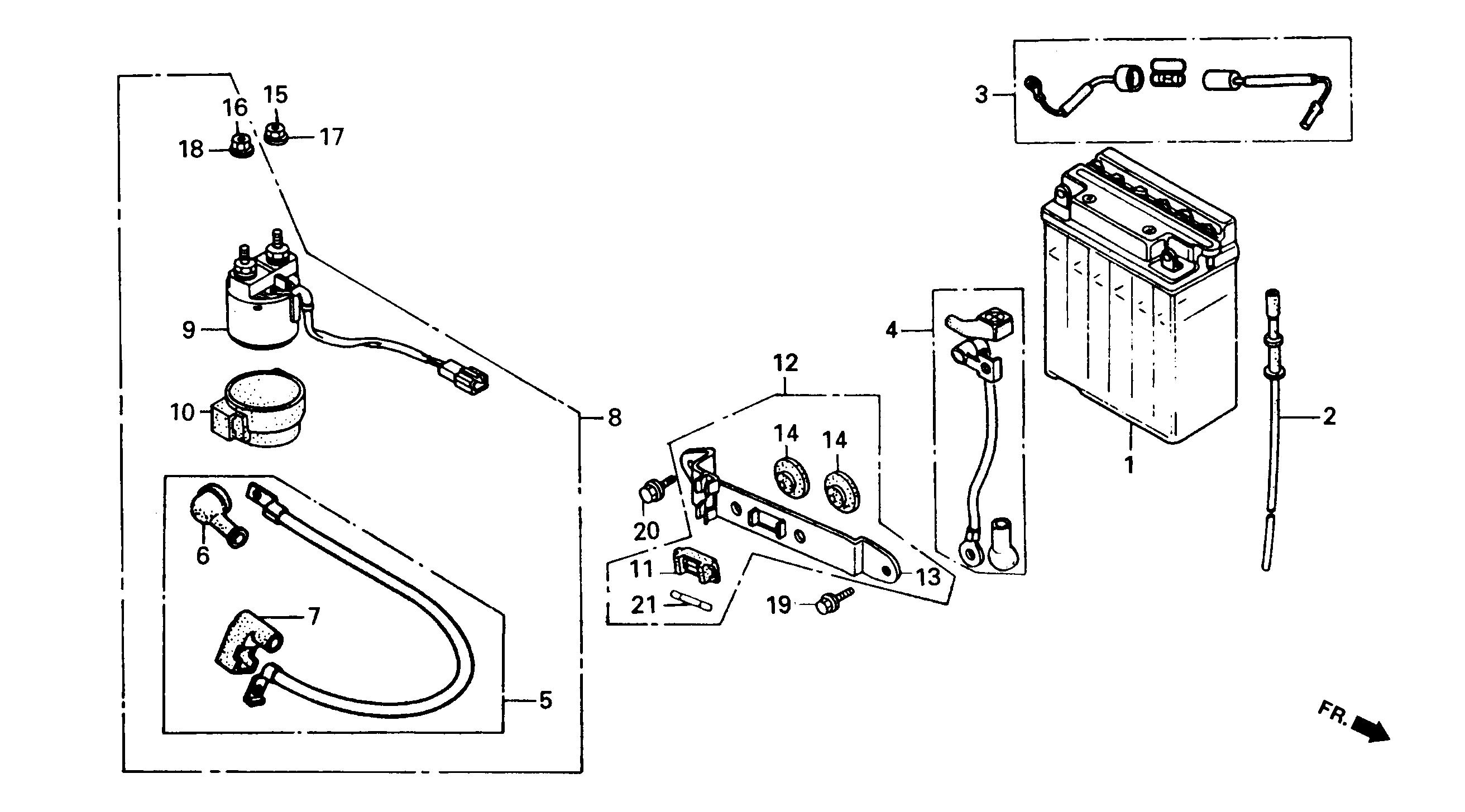 Batterie / Starterrelais