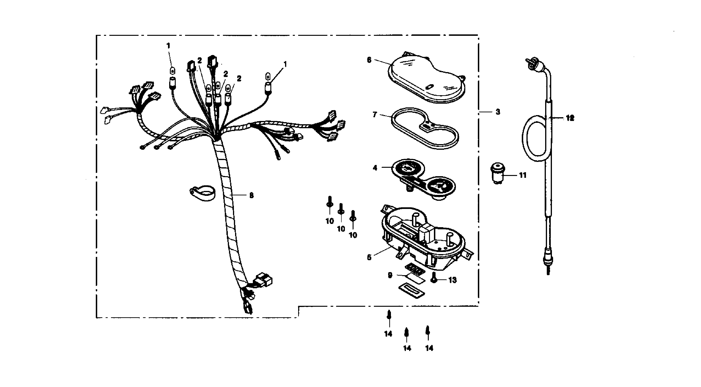 Instrumente, Tachowelle, Blinkgeber
