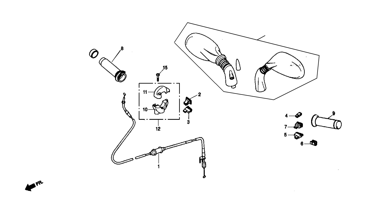 Griffe / Schalter / Züge / Spiegel