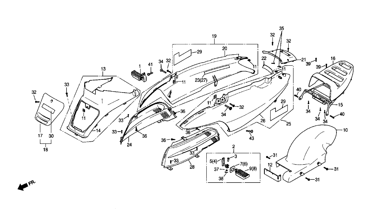 Heckverkleidung / Gepäckträger