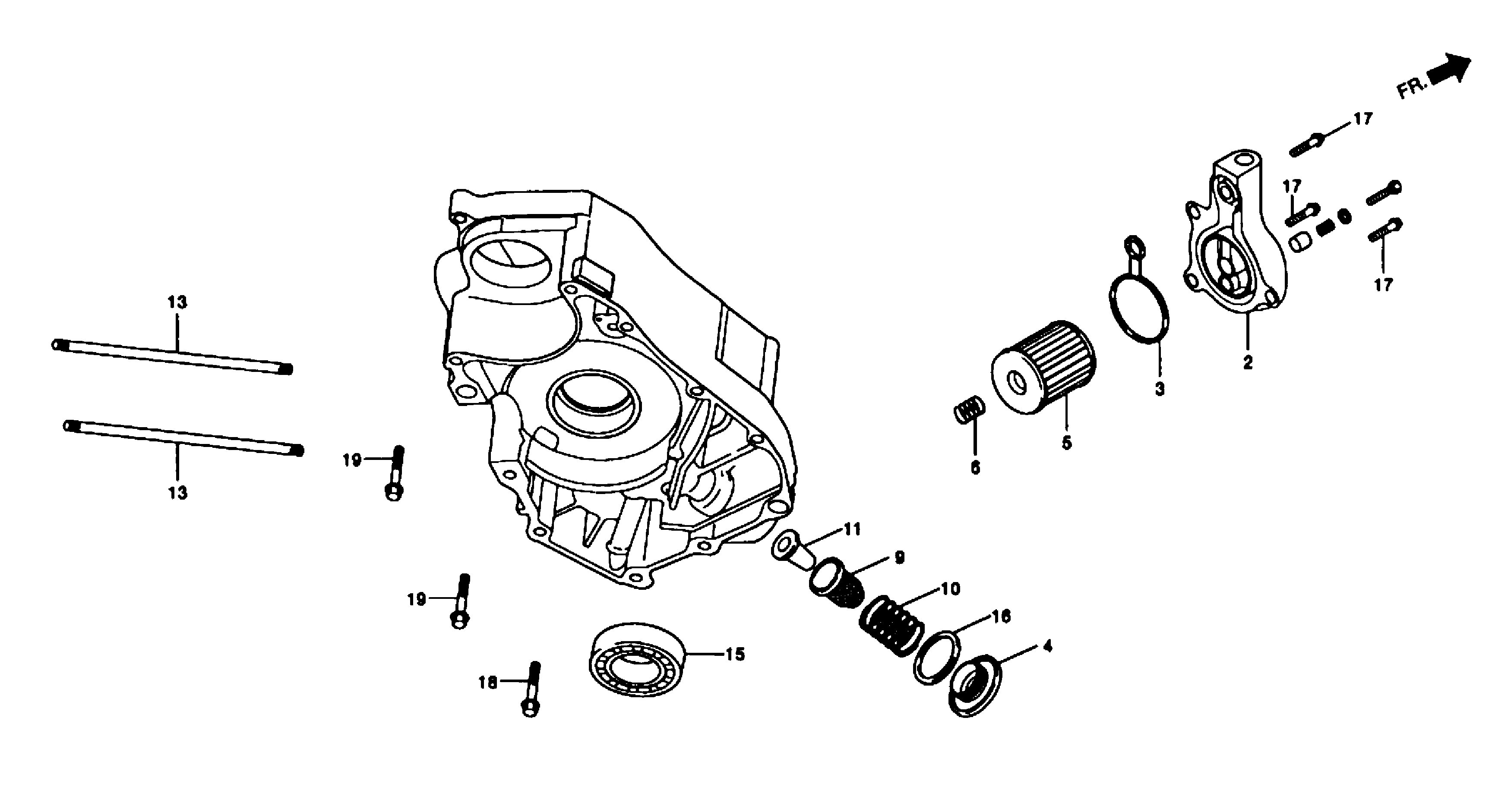 Motorgehäuse rechts