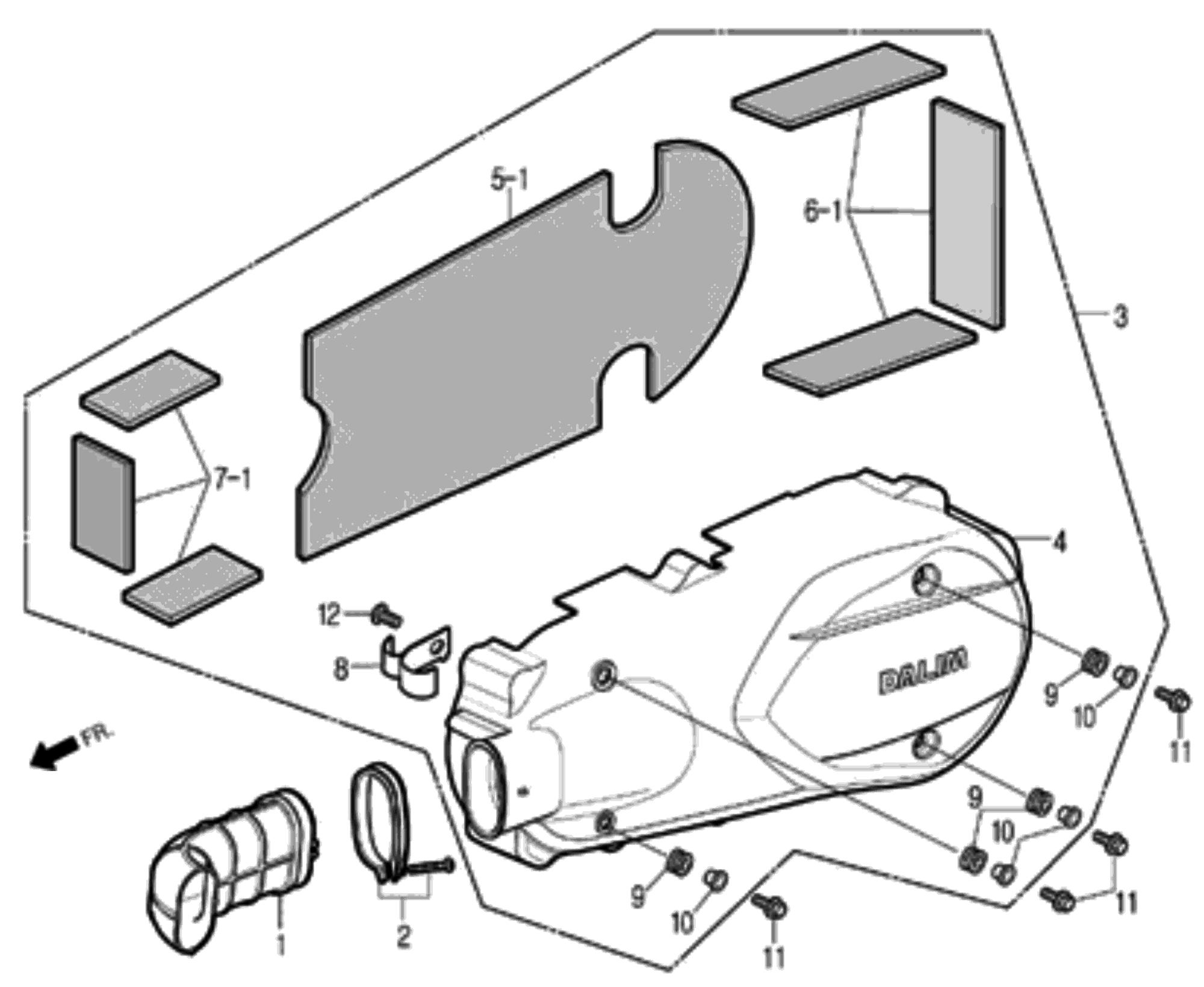 Motordeckel links