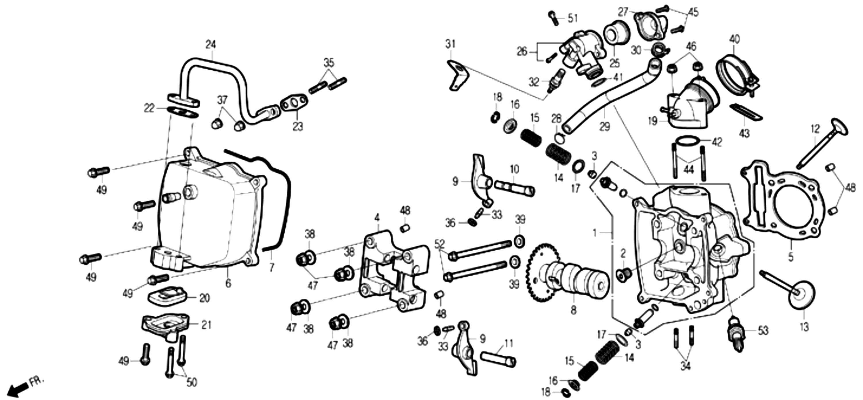 Zylinderkopf / Ventildeckel