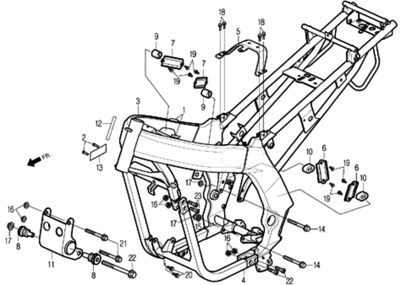 Rahmen, Motorhalter