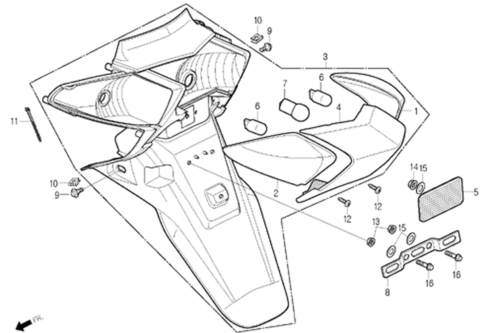 Scheinwerfer, Kotflügel