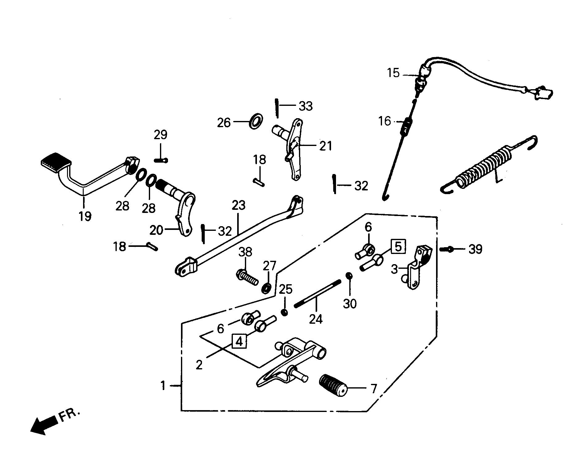 Bremshebel / Schalthebel