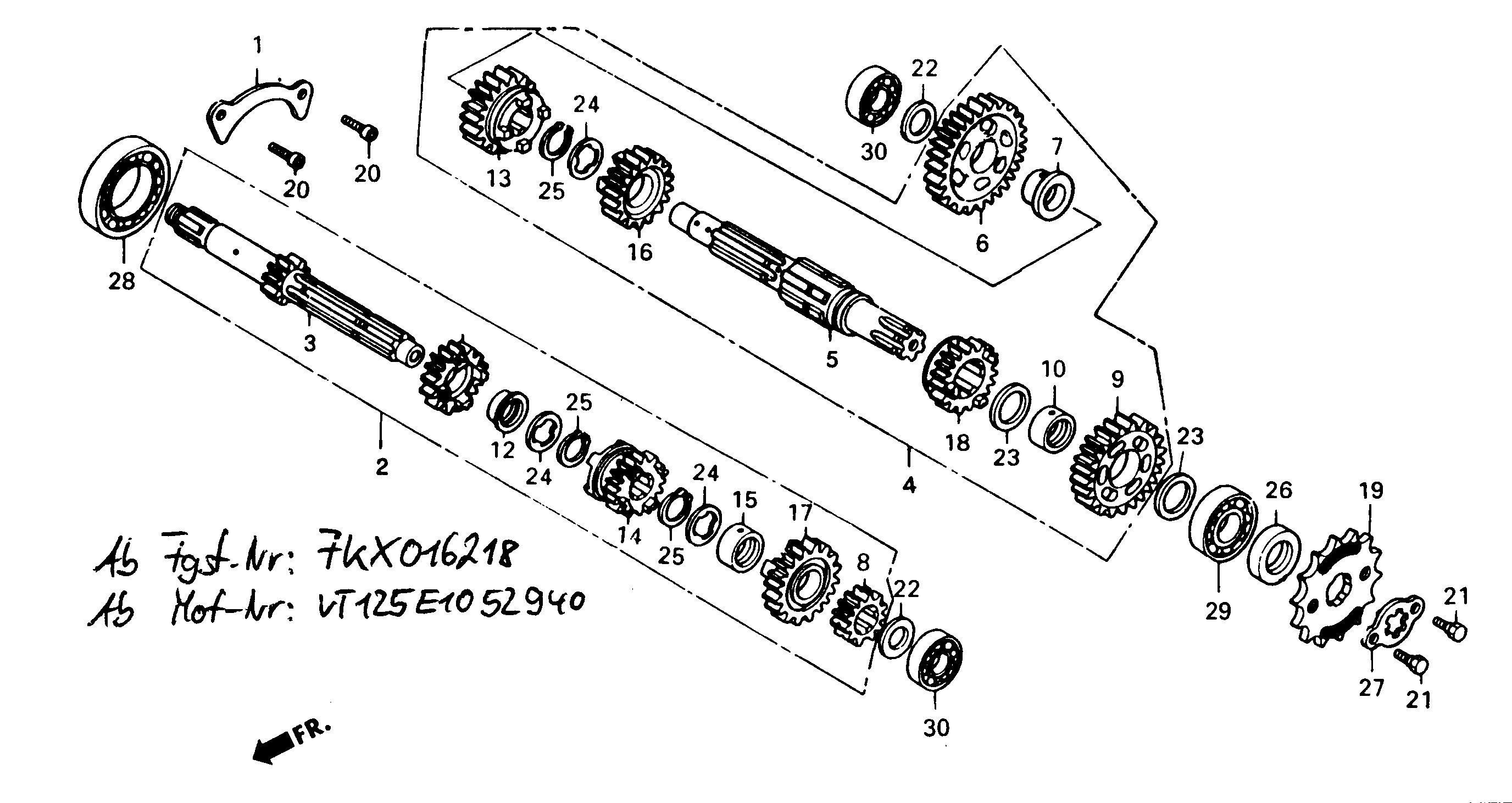 Getriebe ab FgNr.: KMYVT125FKX016218