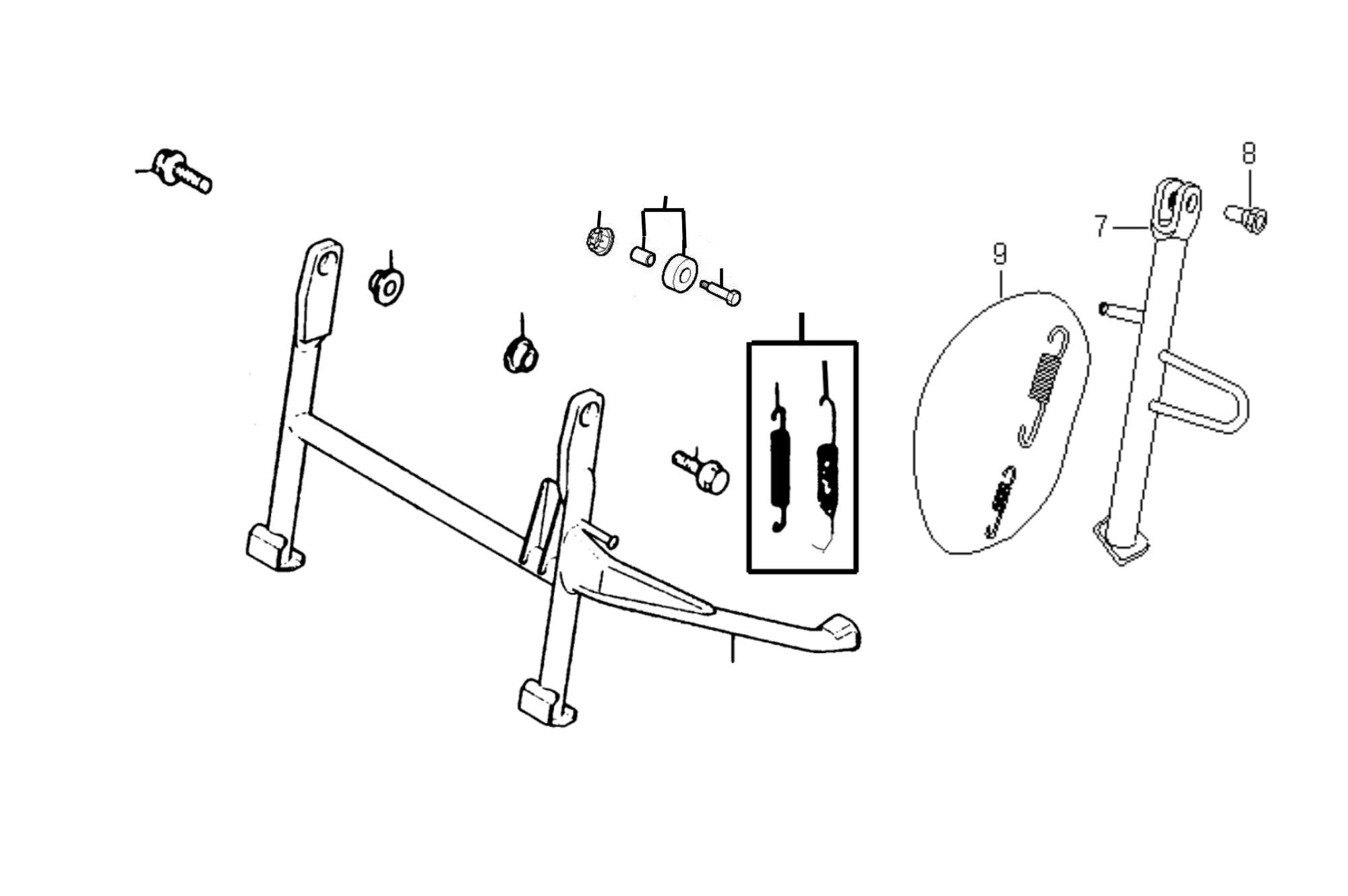 Ständer (am Rahmen befestigt)