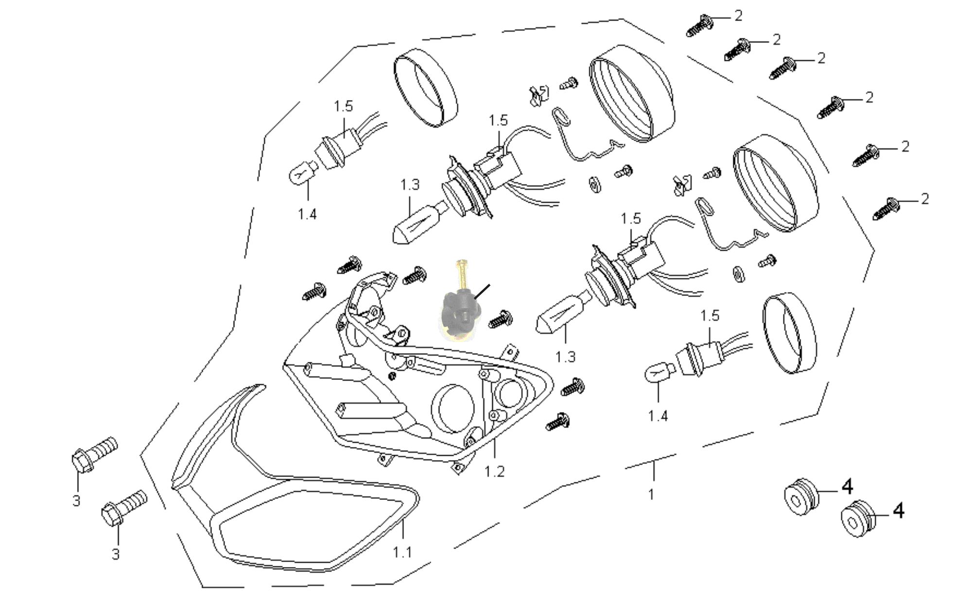 Scheinwerfer vo. f. QT-20A3