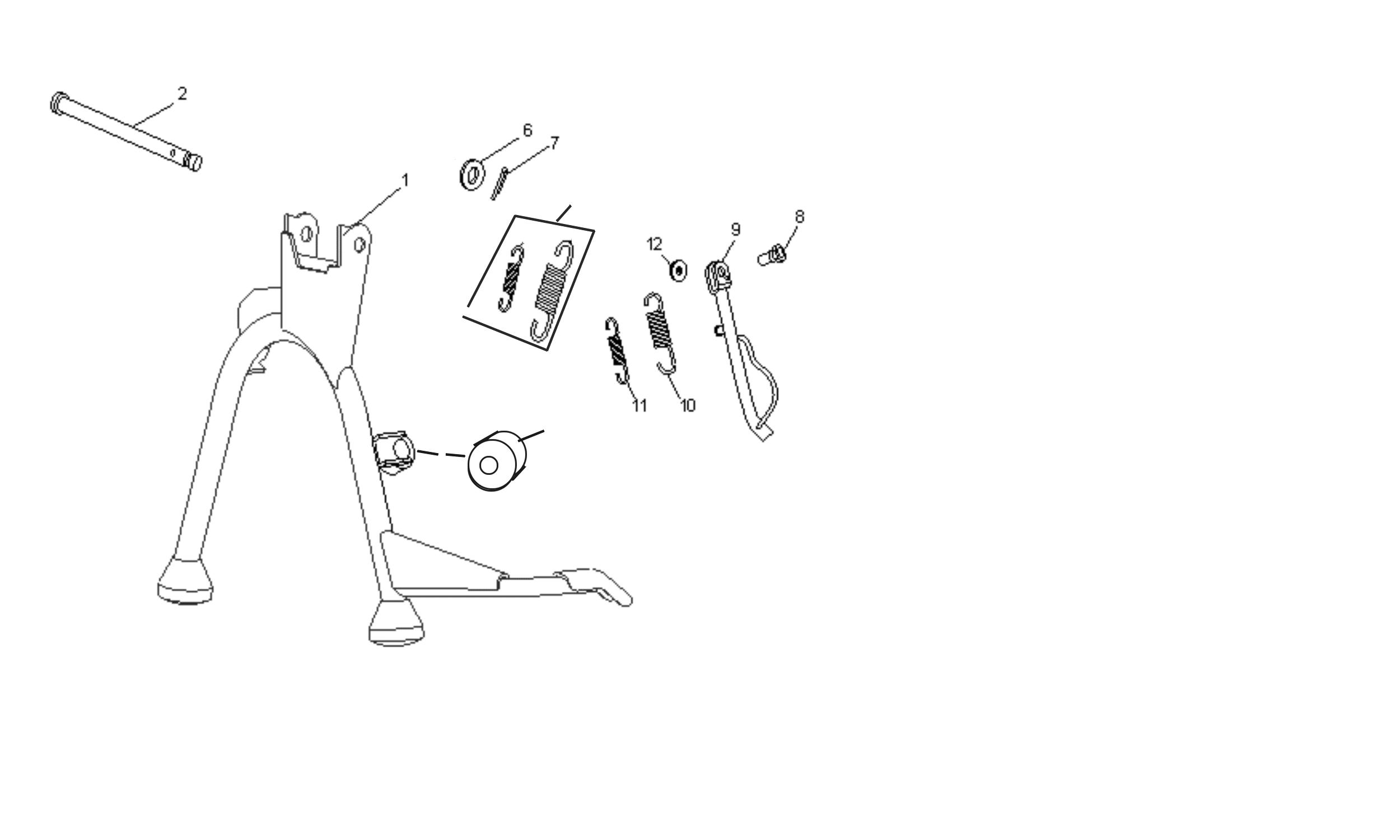 Ständer f. 2-Takt Motor