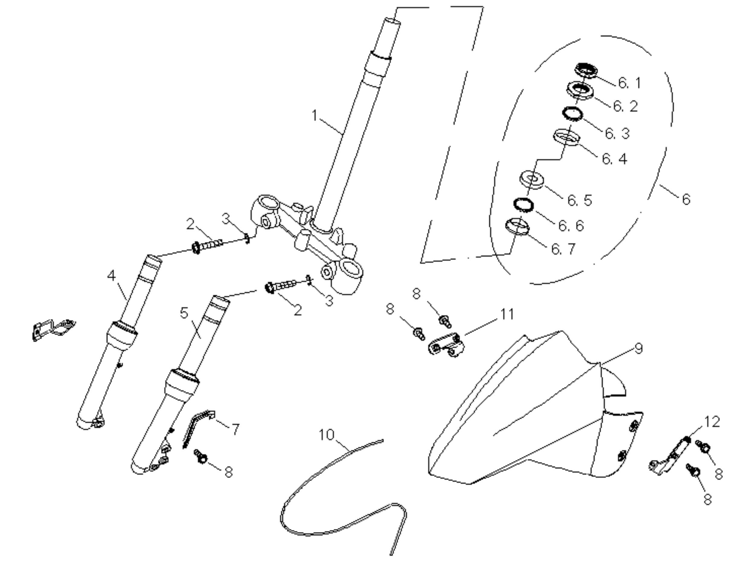 Vorderradgabel, Kotflügel vo.