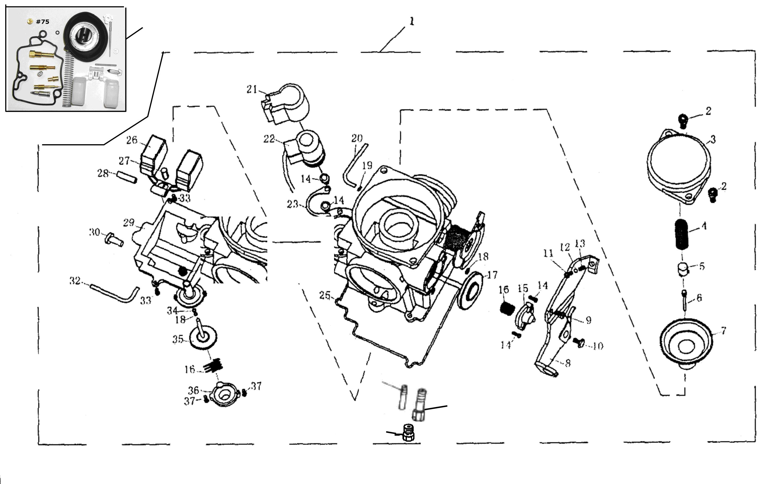 Riemenscheibe für Baotian BT49QT-9B 0000