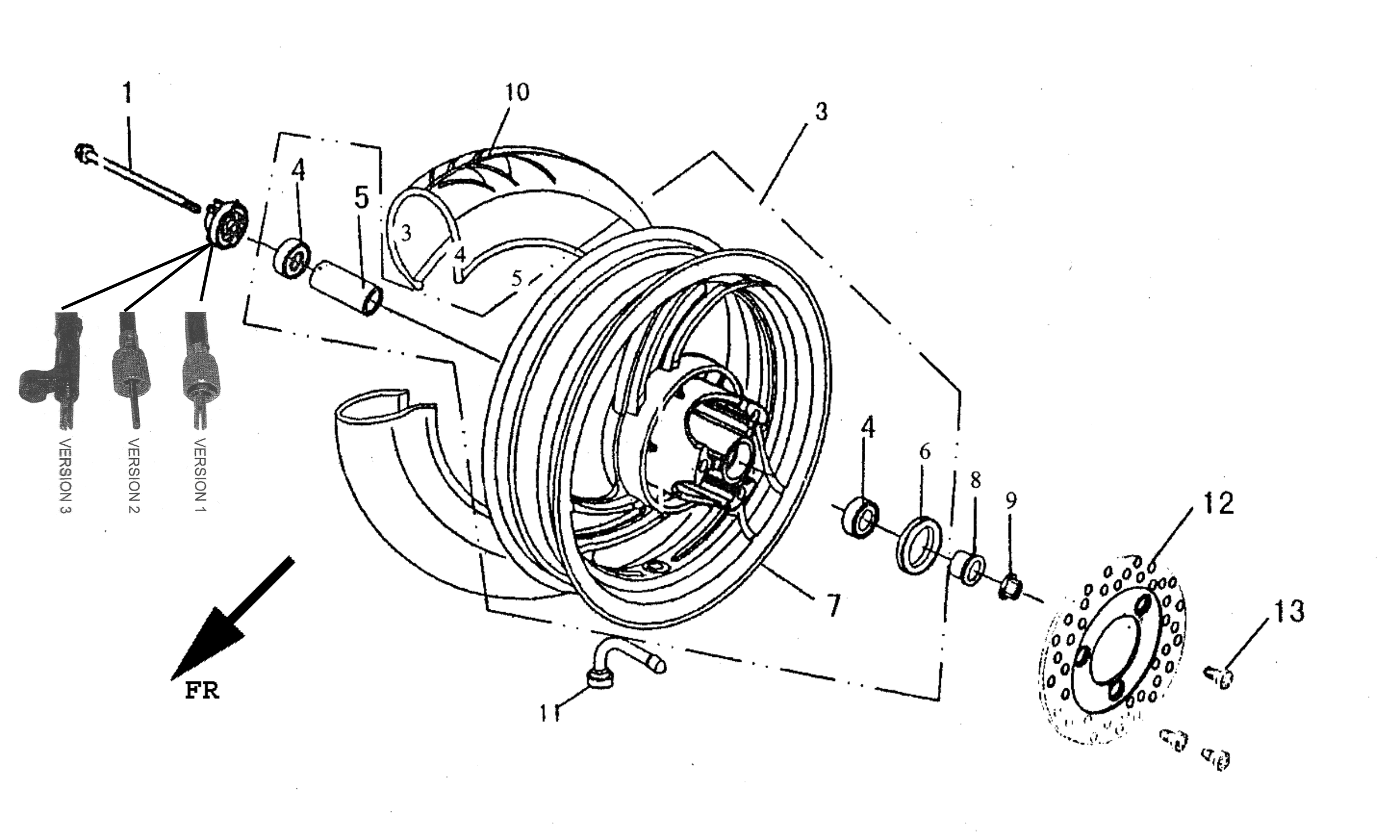 Vorderrad f. Scheibenbremse