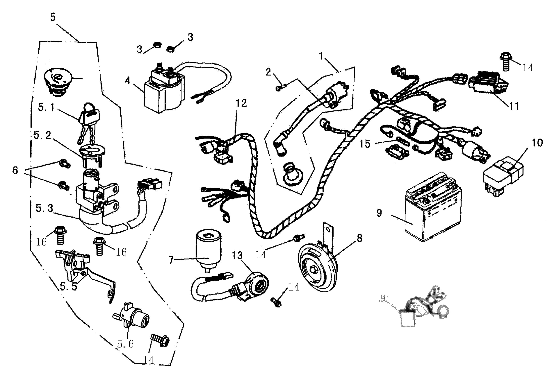 Kabelbaum, Elektrik