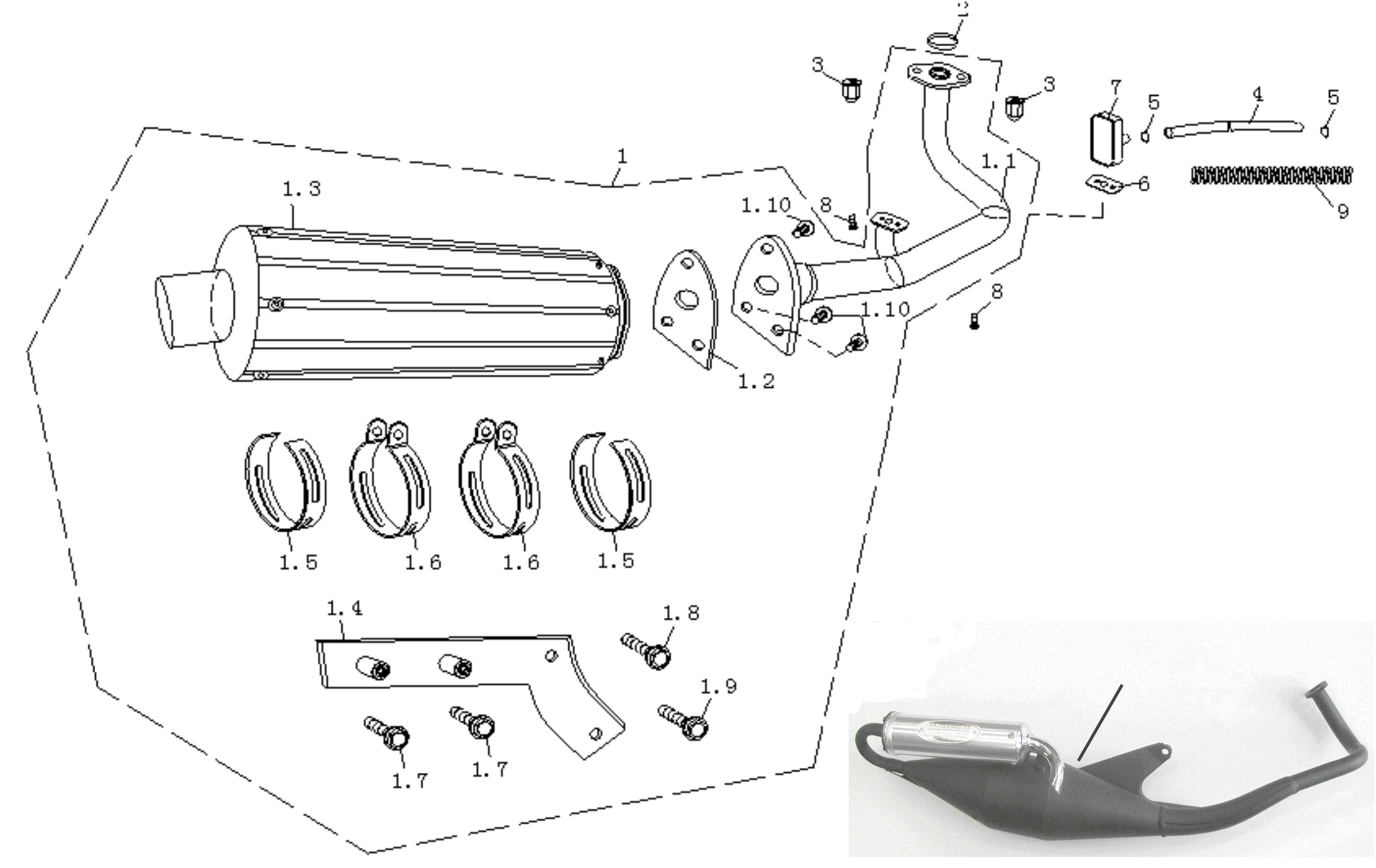 Auspuff Ausf. 1