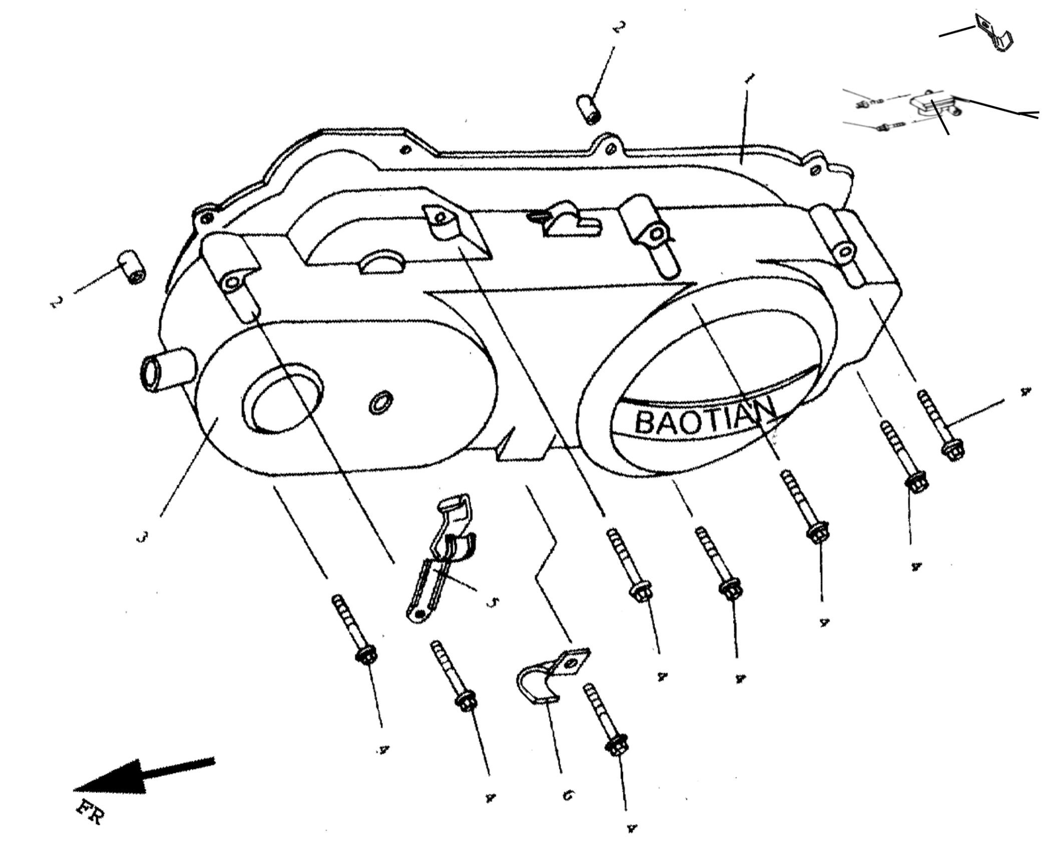 Gehäusedeckel Links