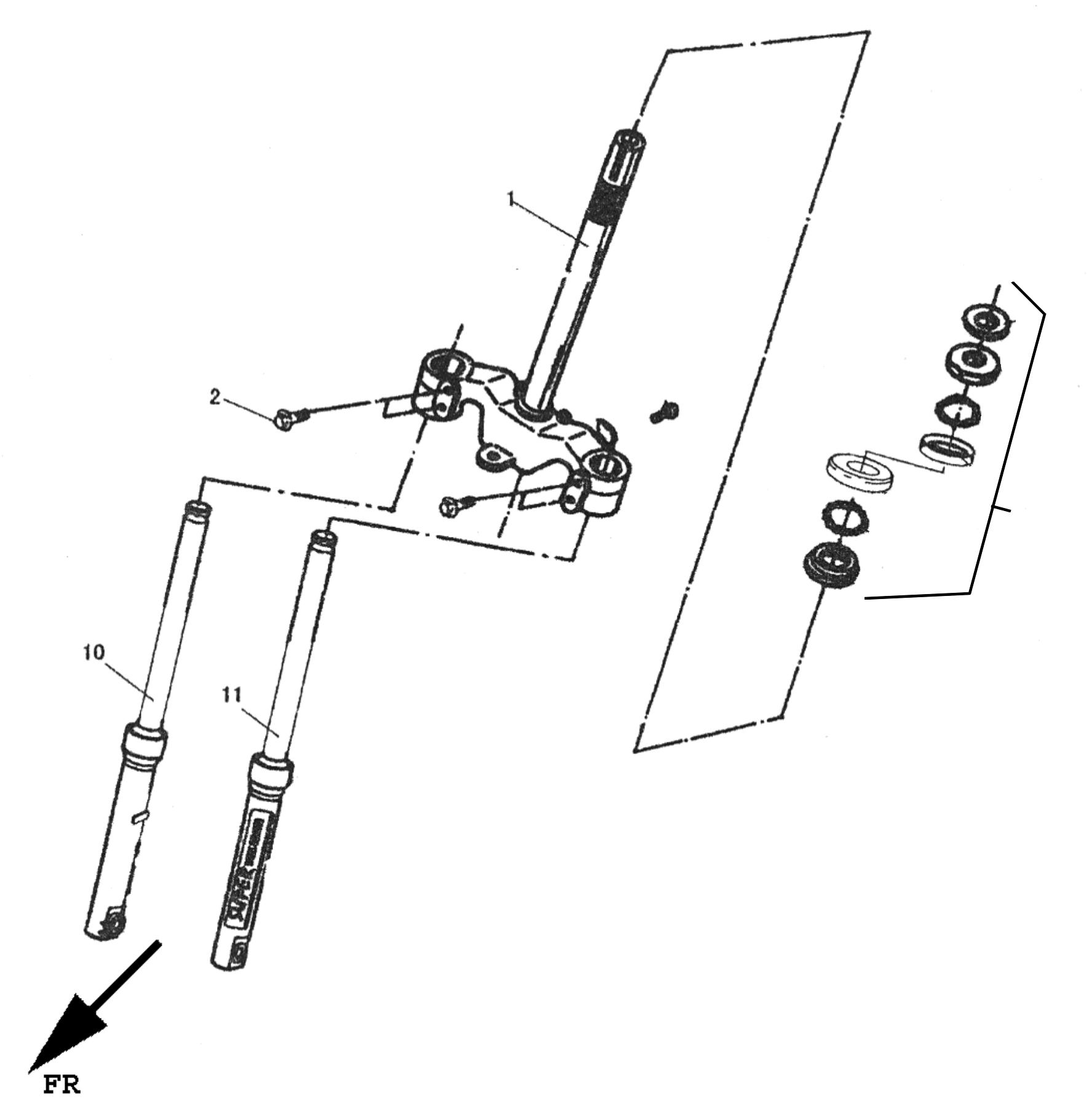 Vorderradgabel (Scheibenbremse), Kotflügel vorn