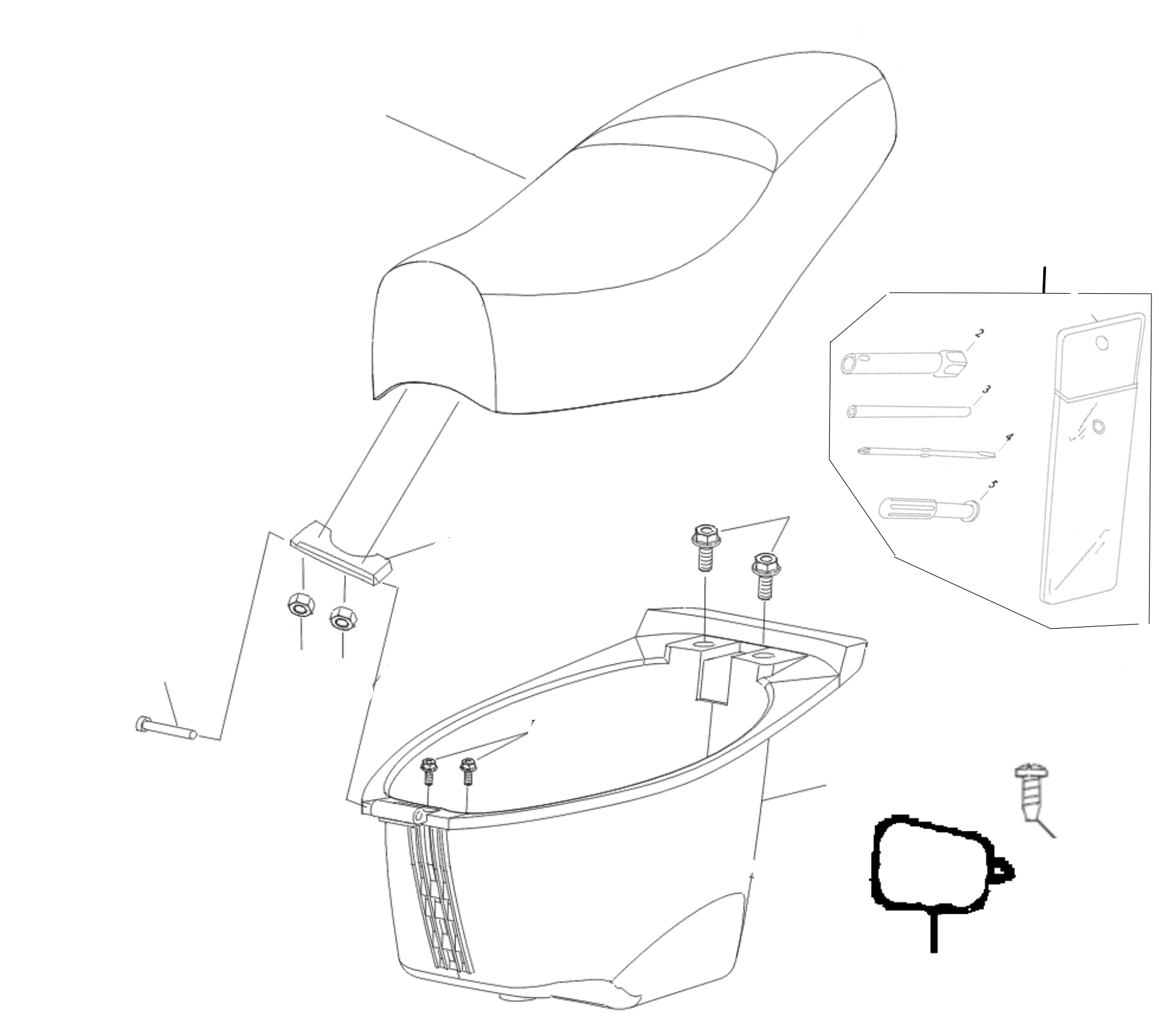 Sitzbank, Staufach