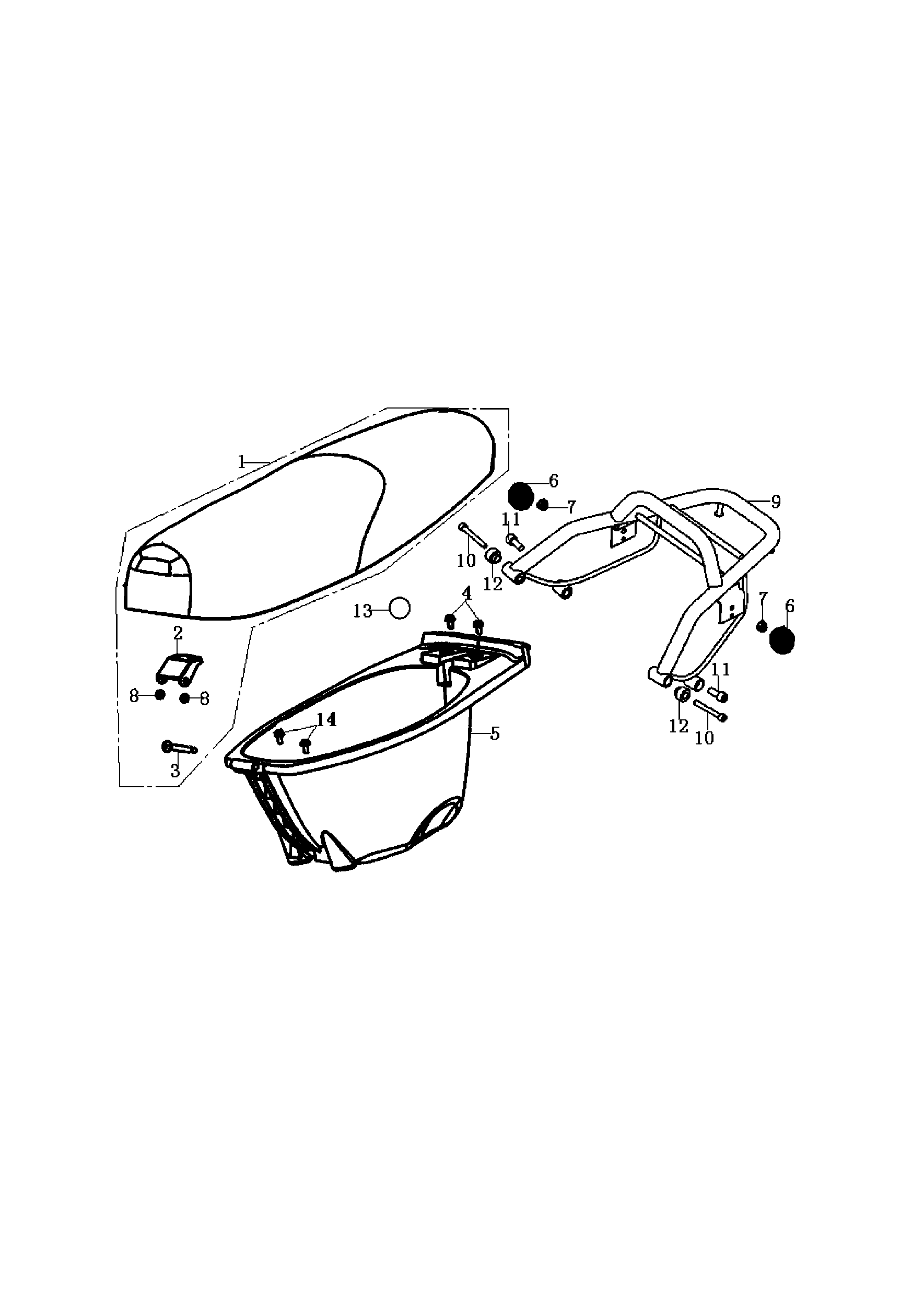 Sitzbank / Helmfach