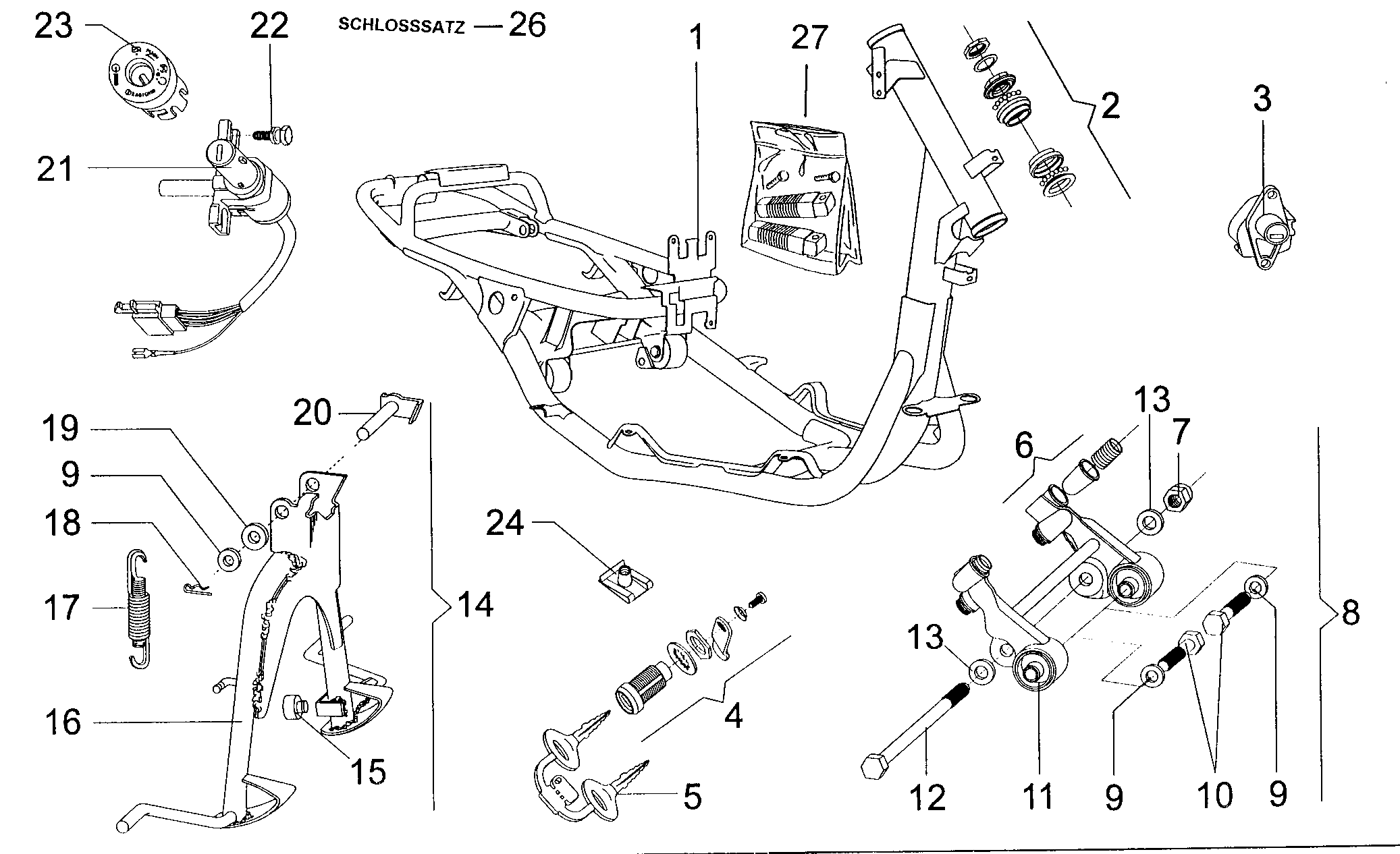 Rahmen / Schloßsatz