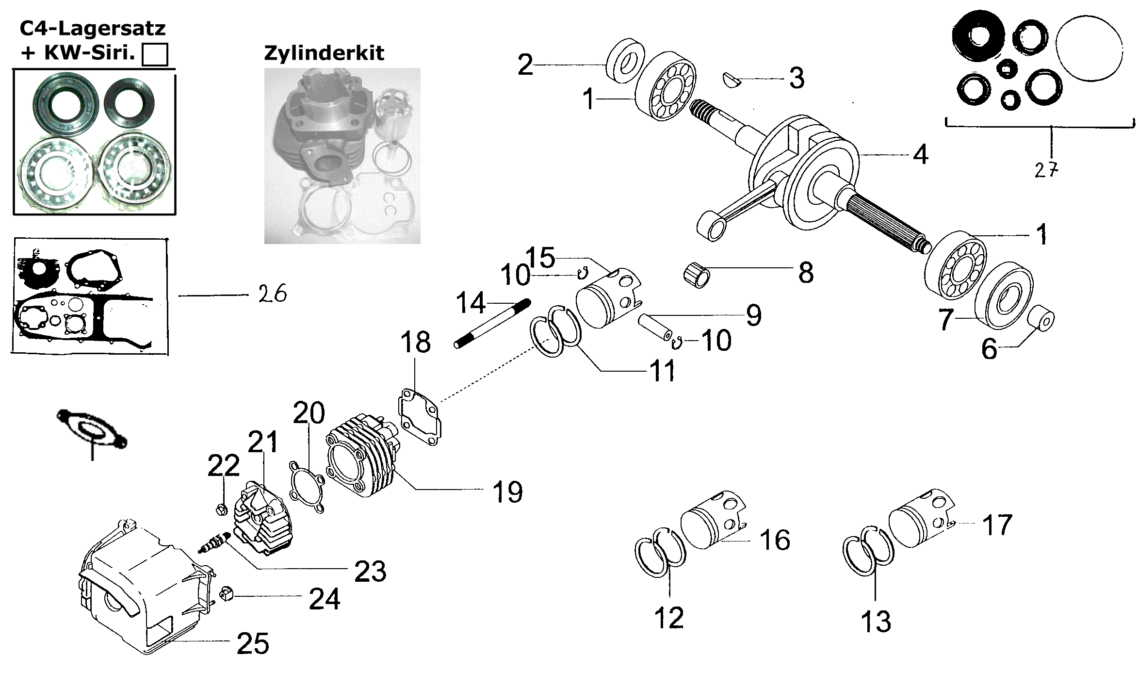 Zylinder / Kurbelwelle