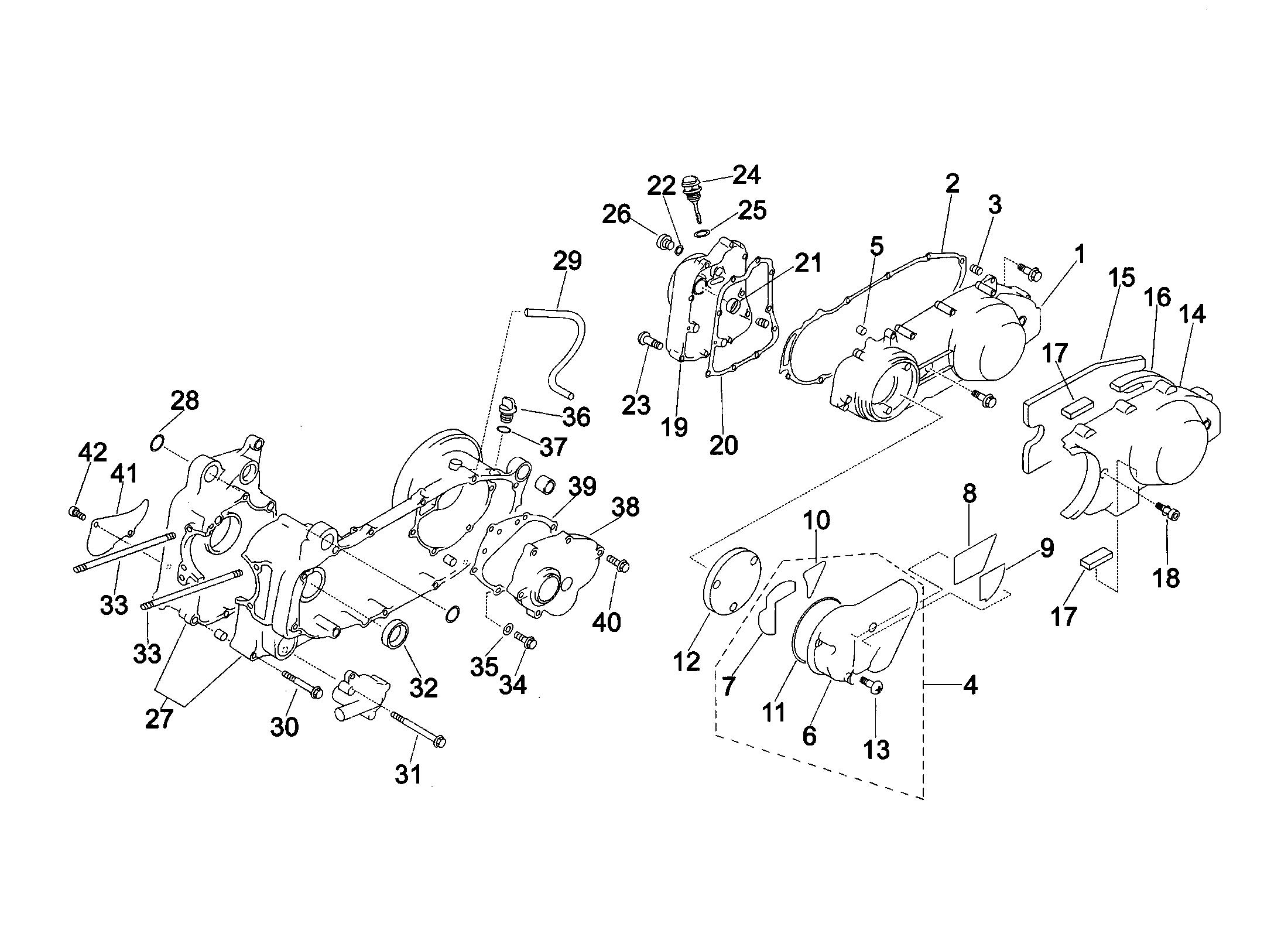 Motorgehäusedeckel