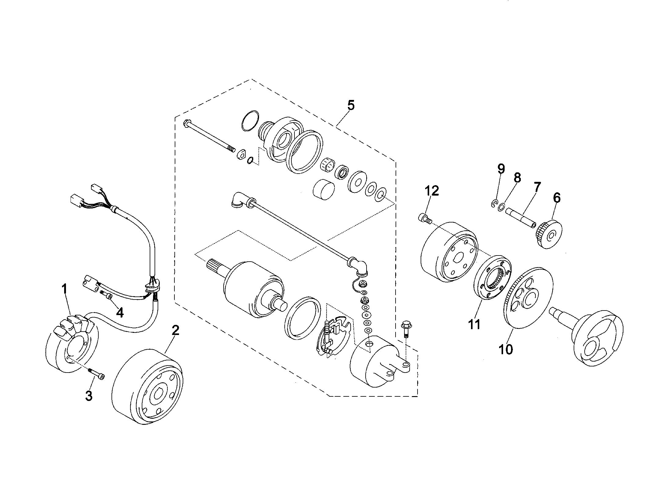 Schwungrad / Zündung