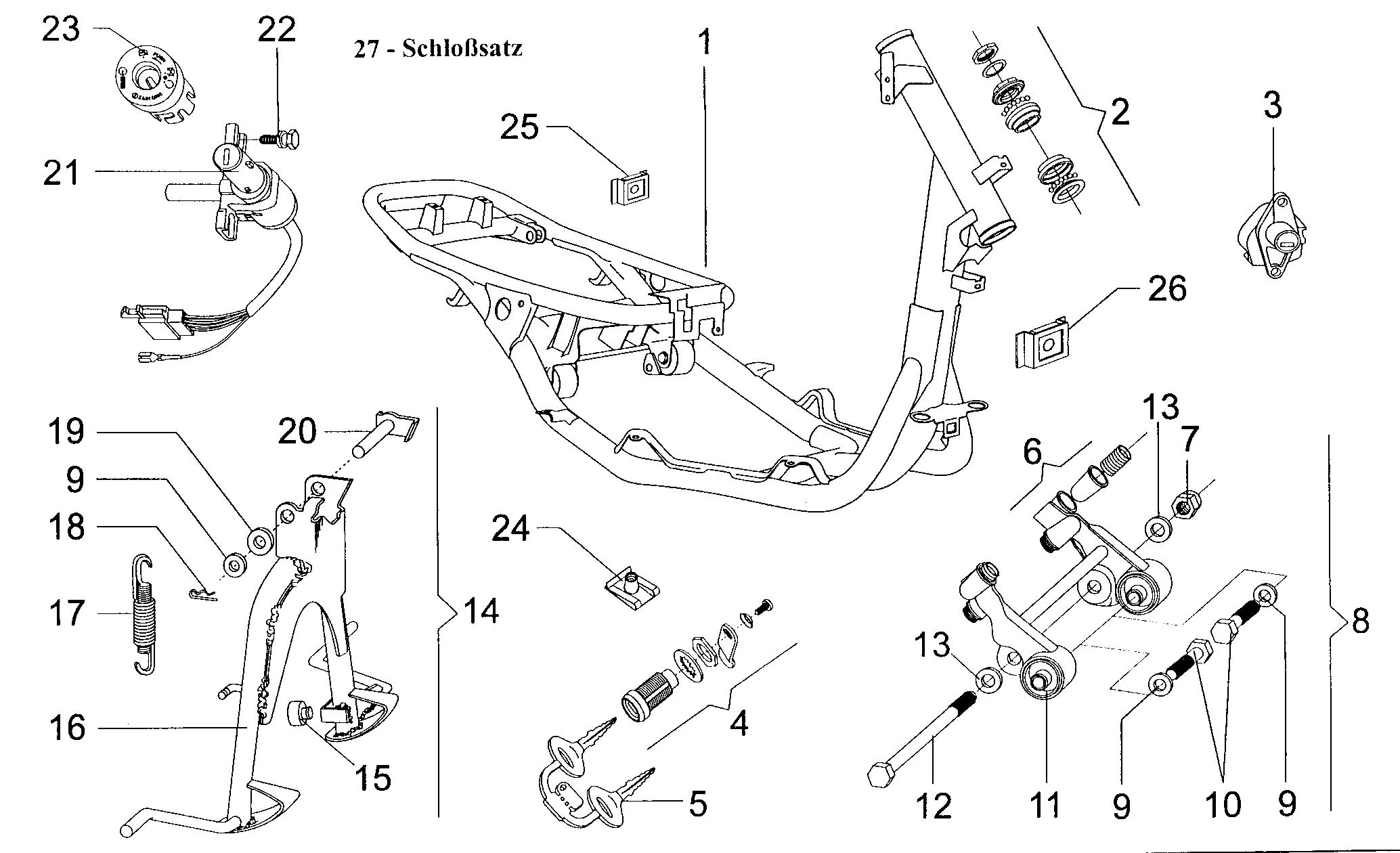Rahmen / Schloßsatz / Ständer