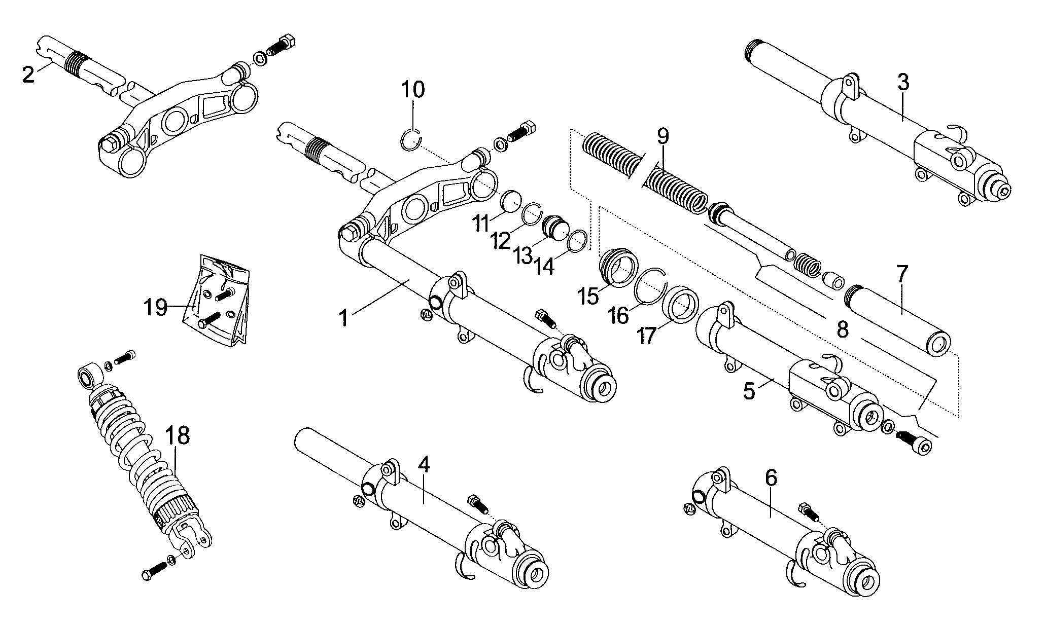 Vorderradgabel / Federbein