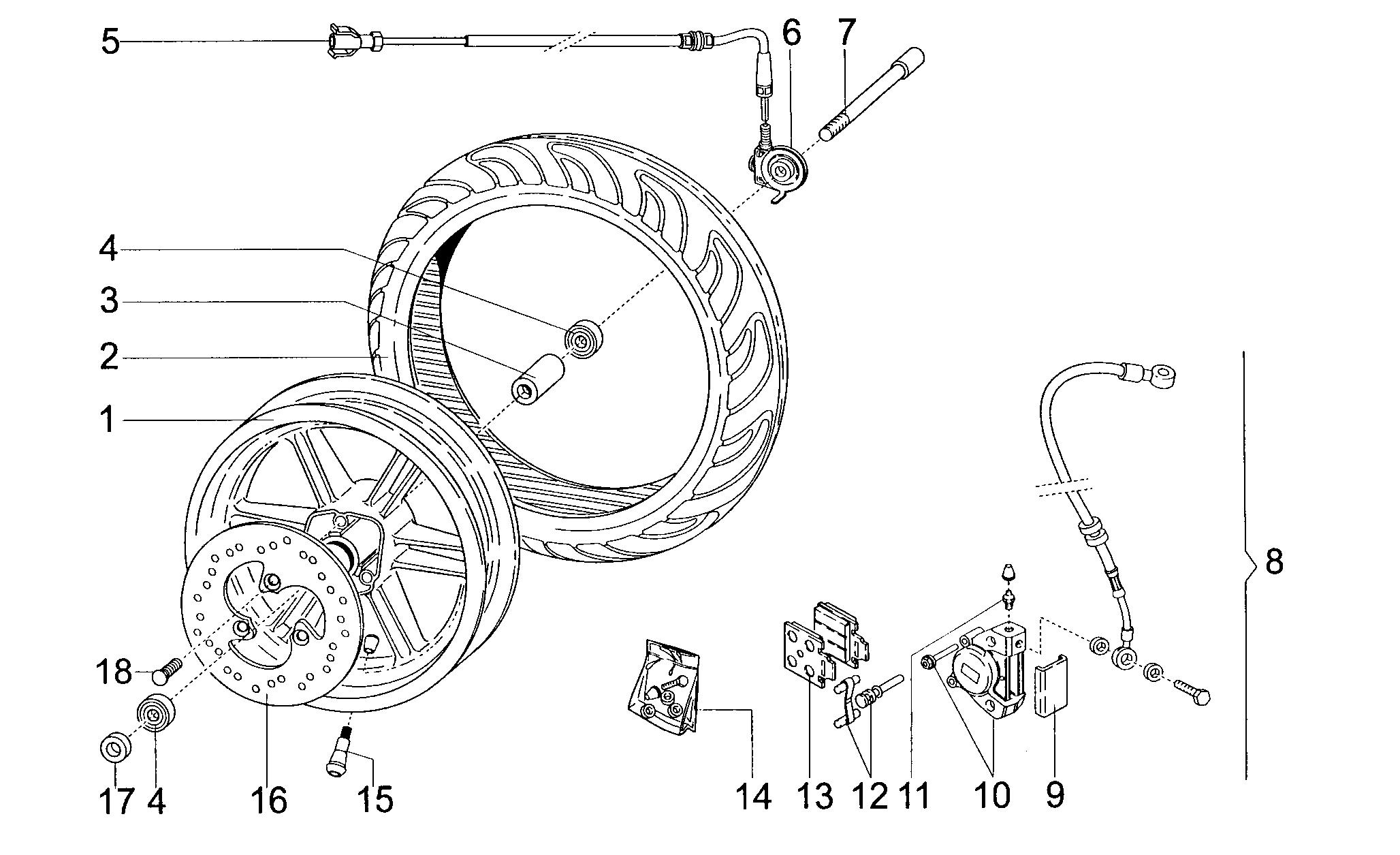 Vorderrad / Bremse vorne