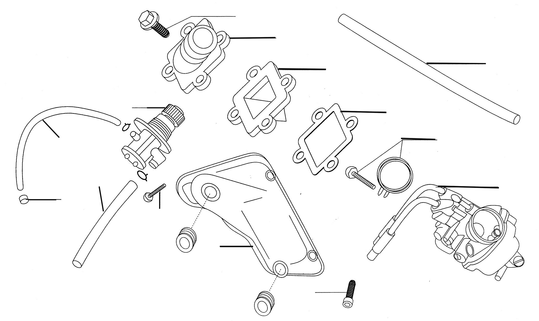 Ölpumpe, Vergaser, Einlasslamelle