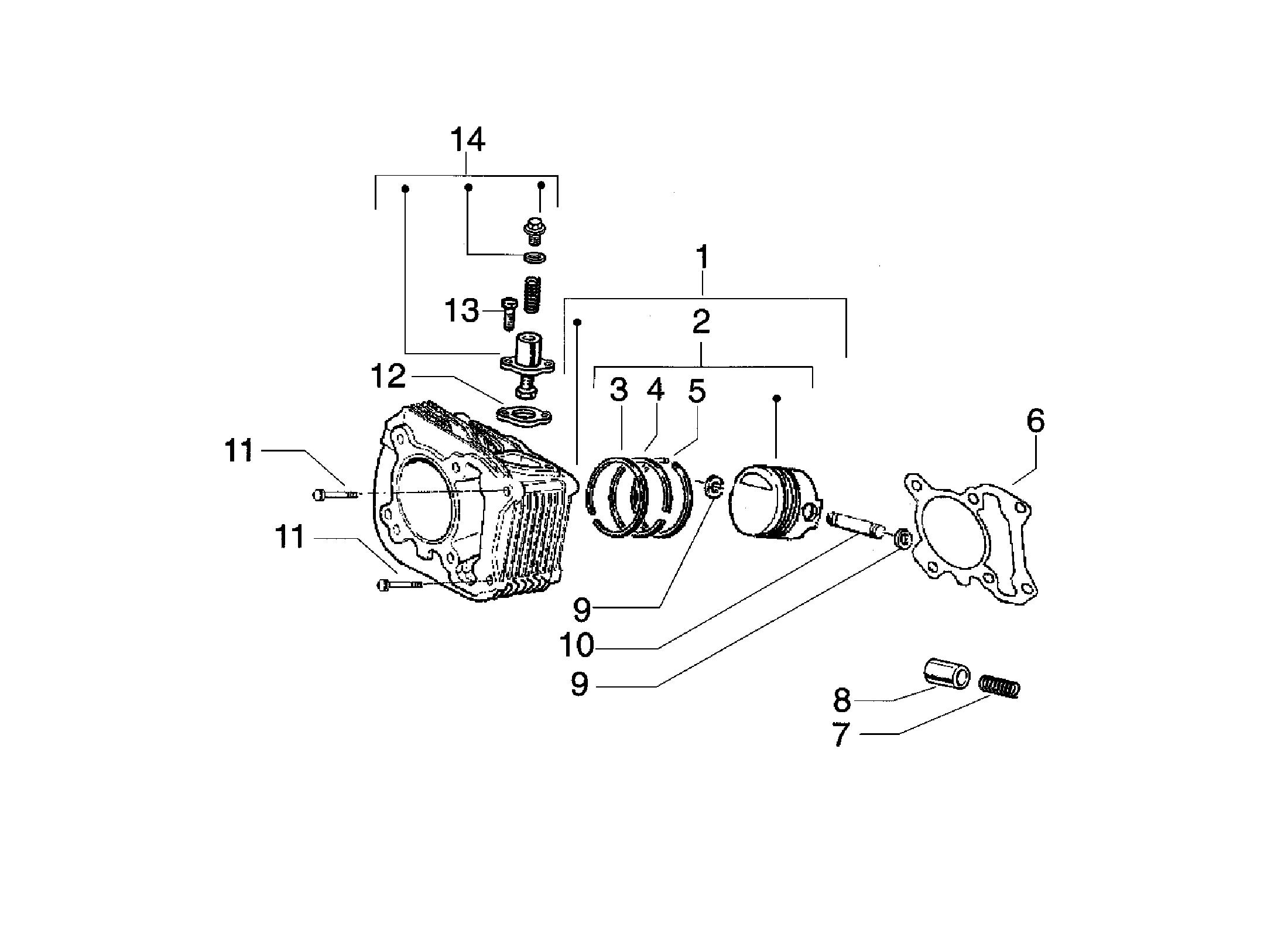 Zylinder/Kolben