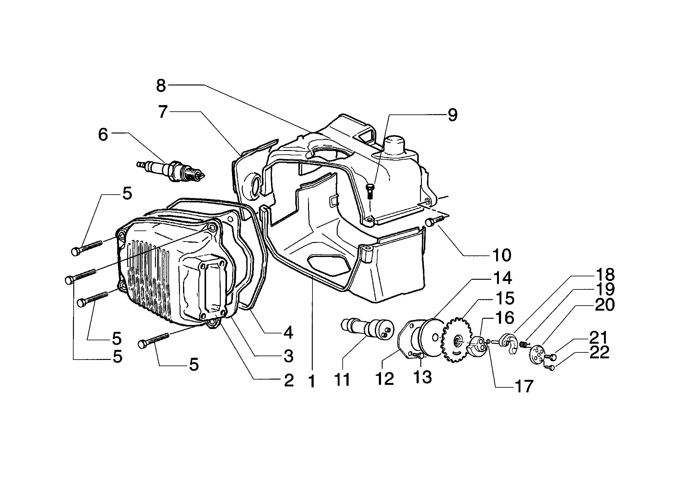 Ventildeckel/Nockenwelle
