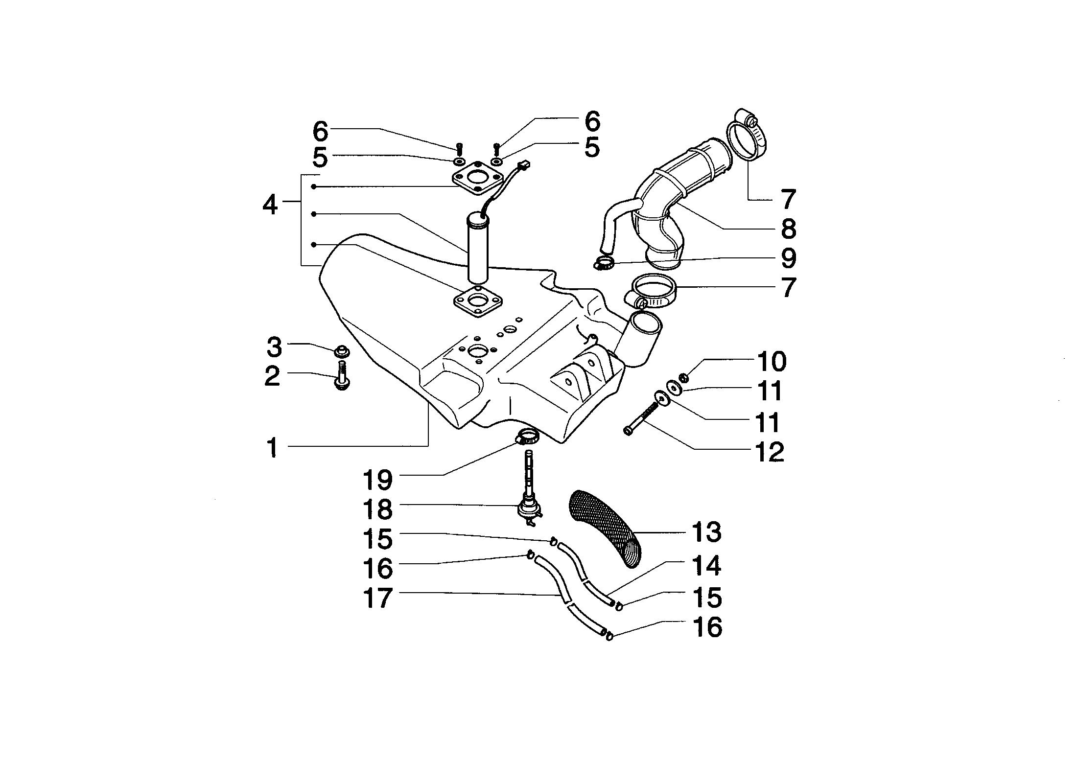 Tank/Benzinhahn/Benzinstandgeber