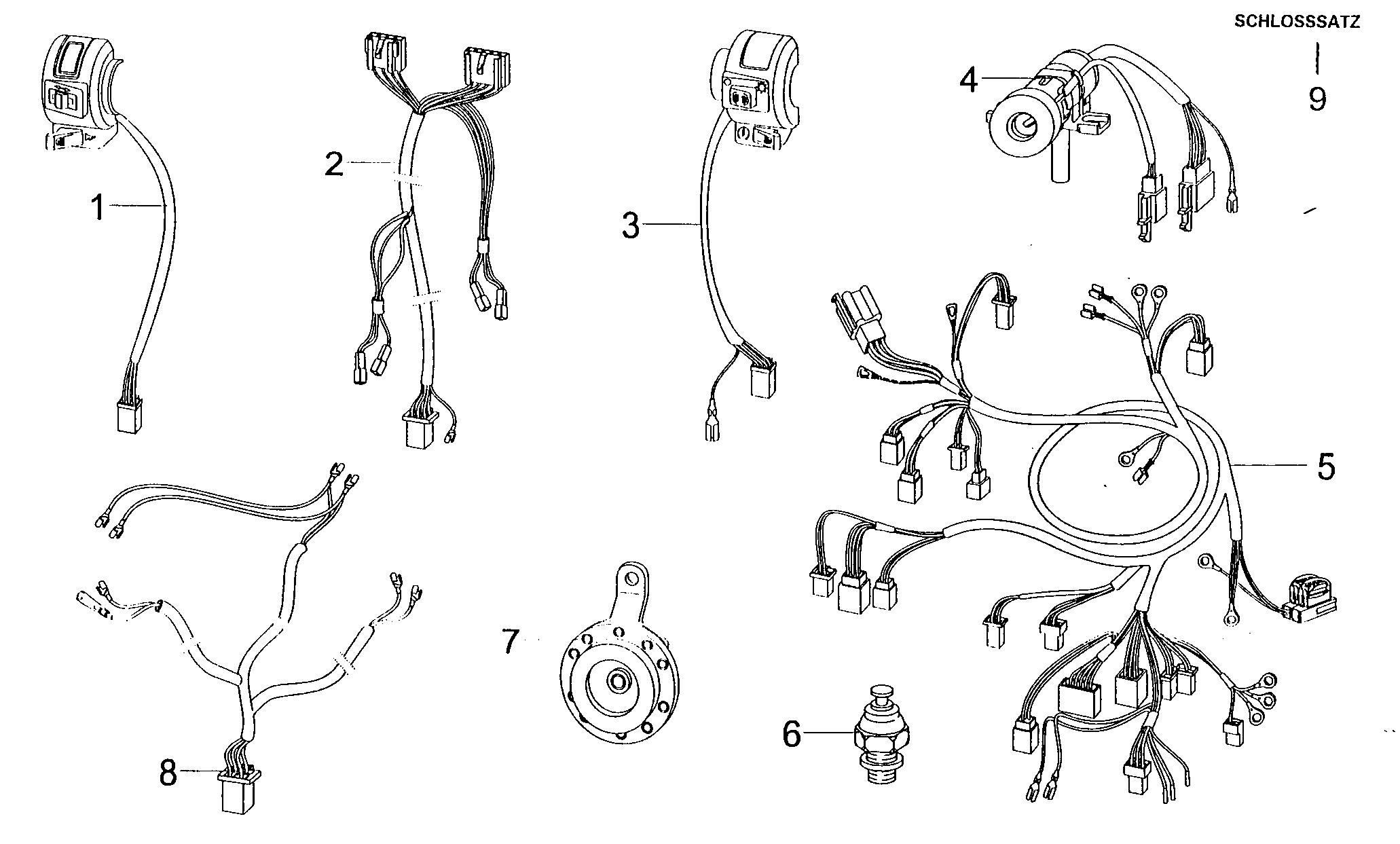 Kabelbaum / Hupe