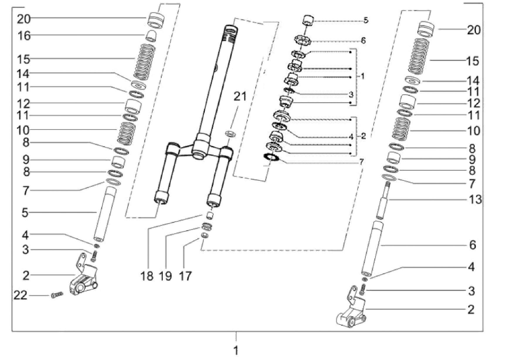 Vorderradgabel, Lenkkopflager (97-99)