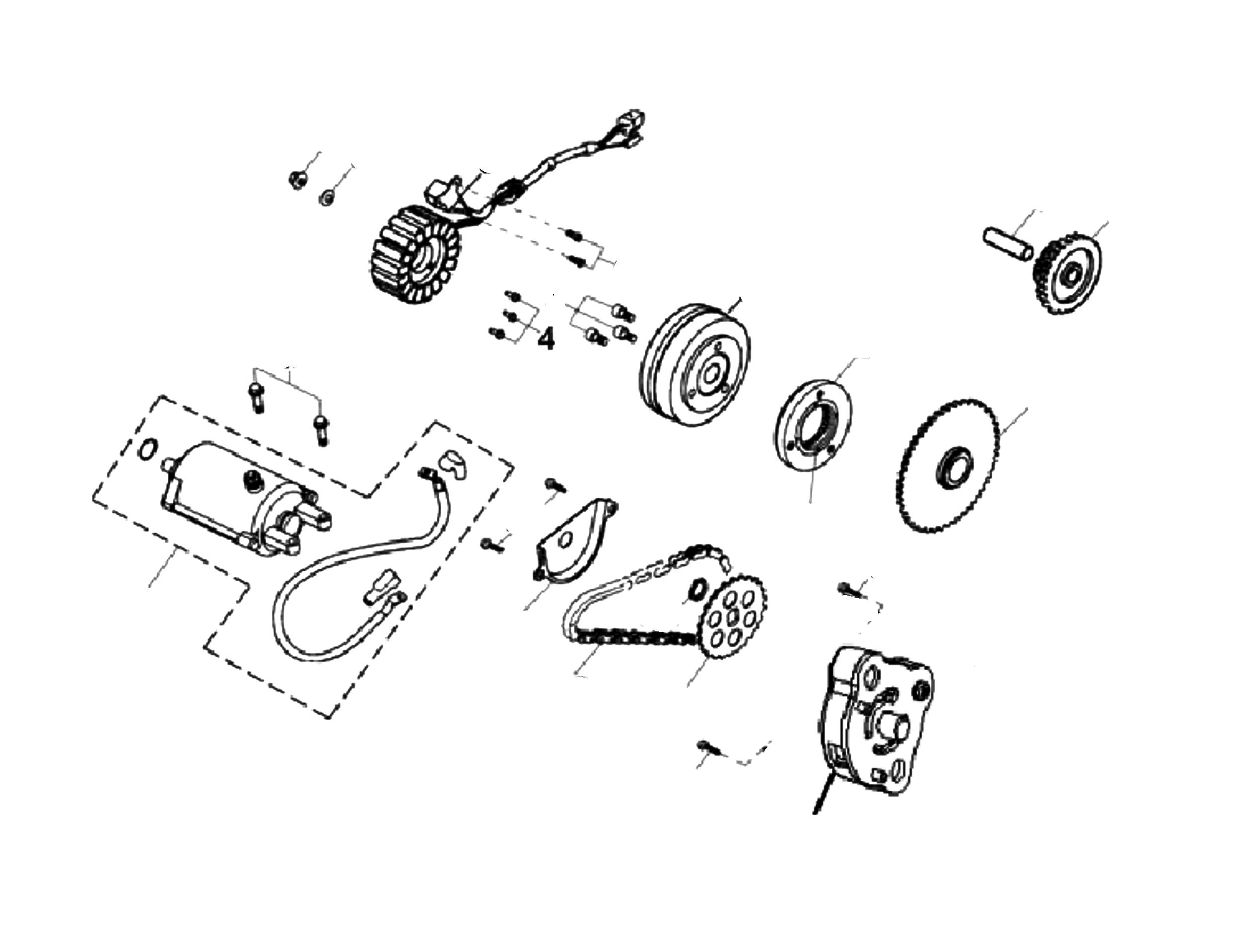 Anlasser, Lichtmaschine, Ölpumpe