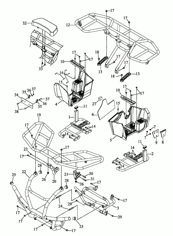 Stoßfänger, Gepäckträger, Trittbretter