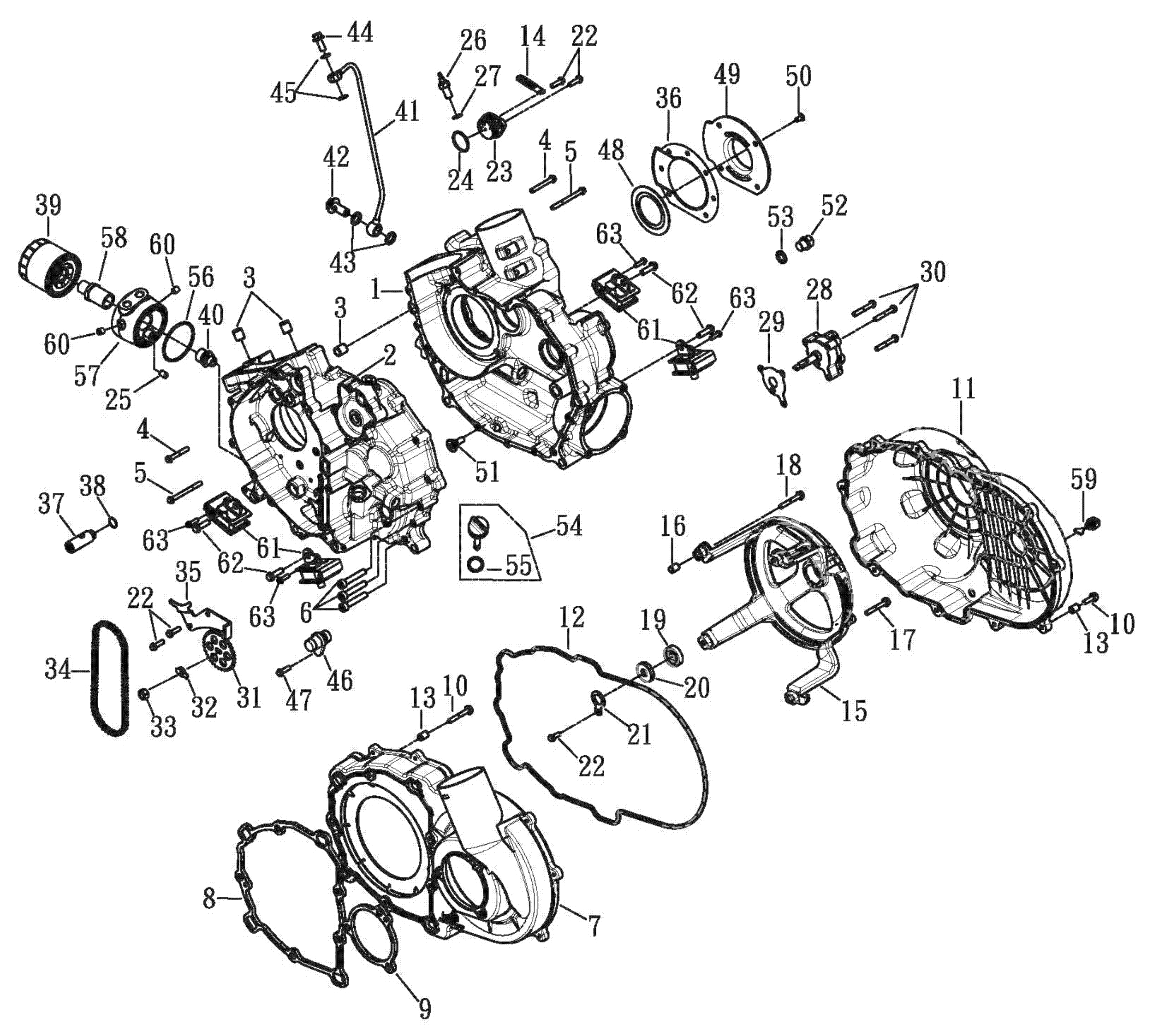 Motorgehäuse, Ölfilter