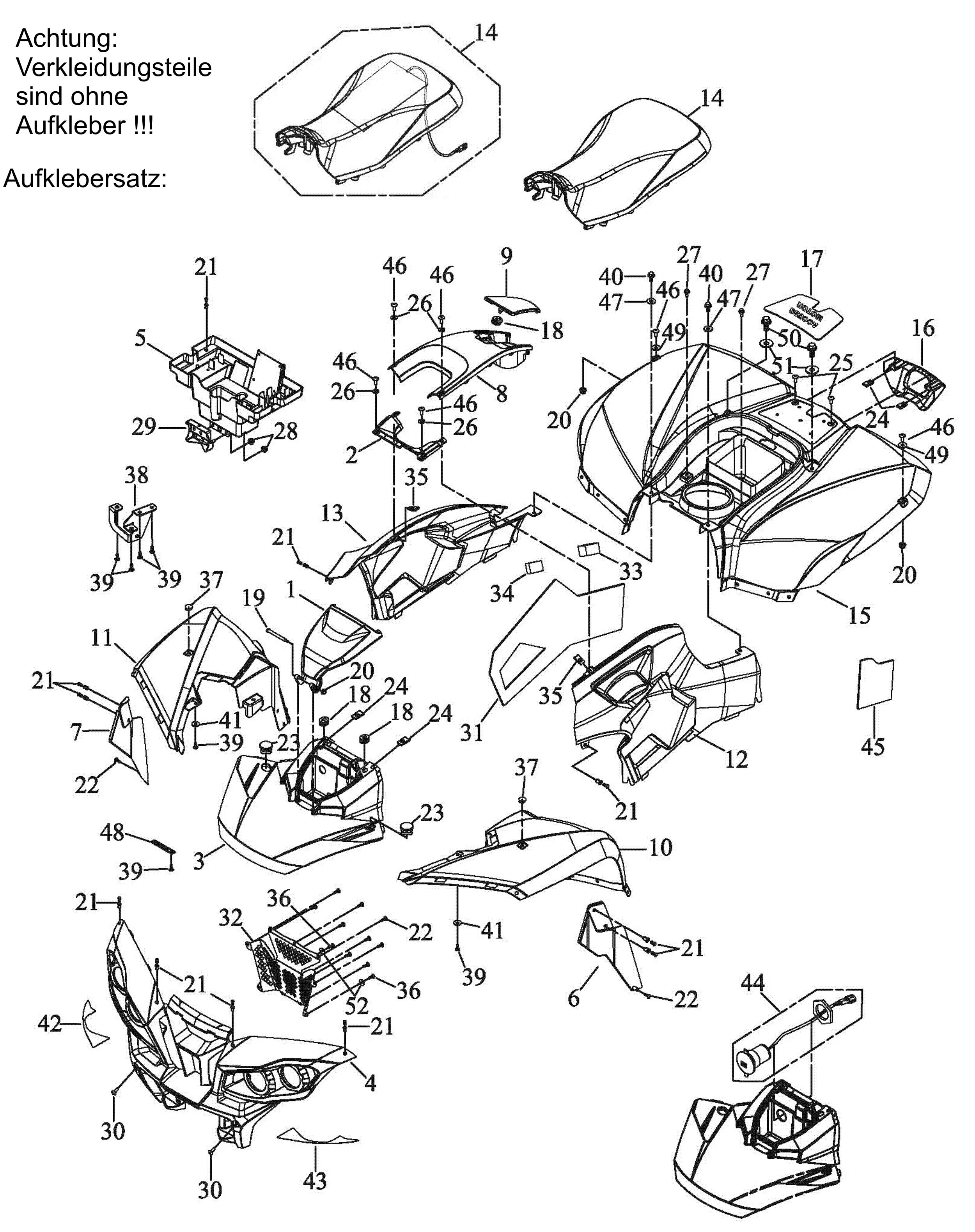 Verkleidung, Sitzbank
