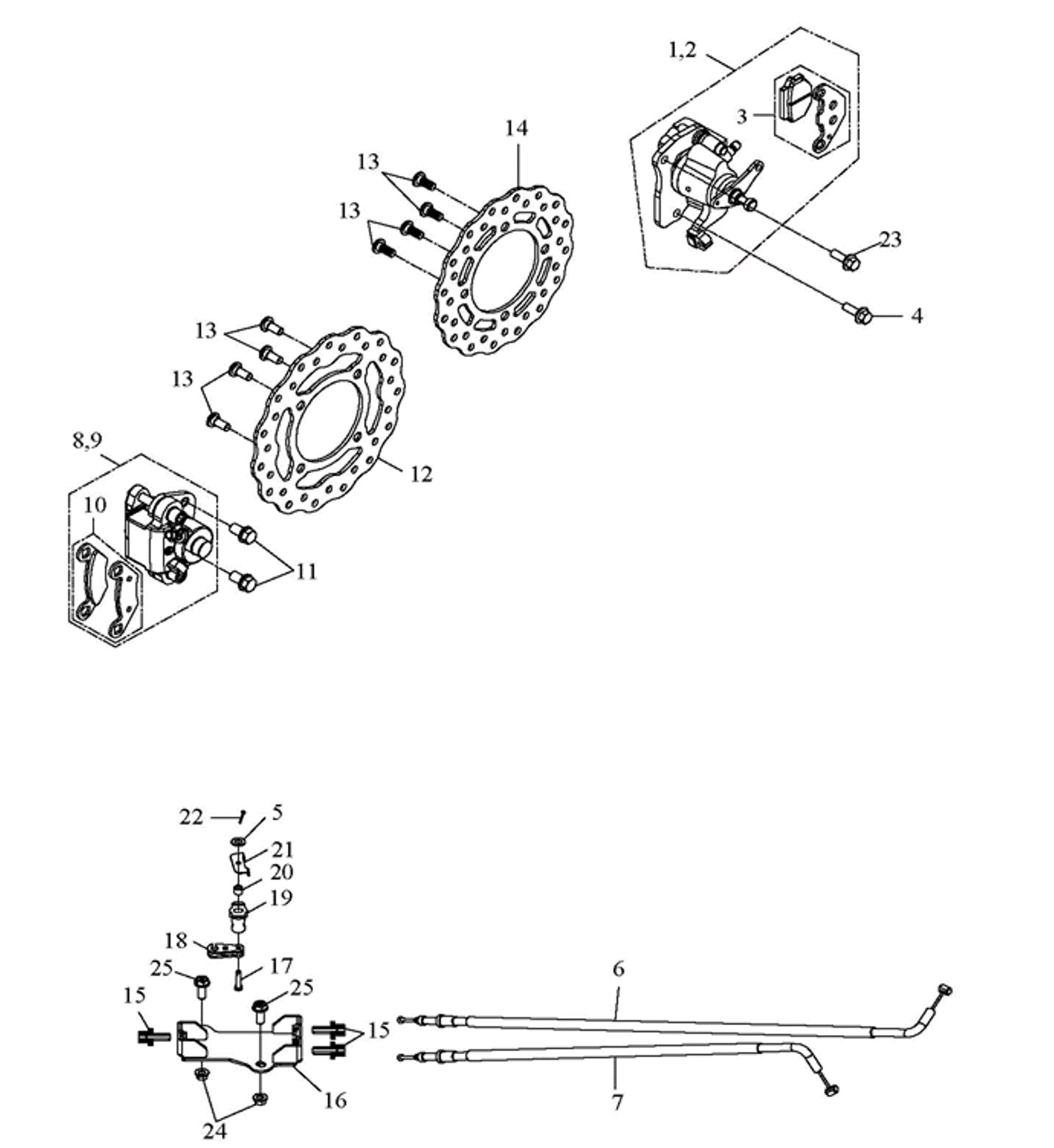 Bremsscheiben, Bremssättel (LoF)