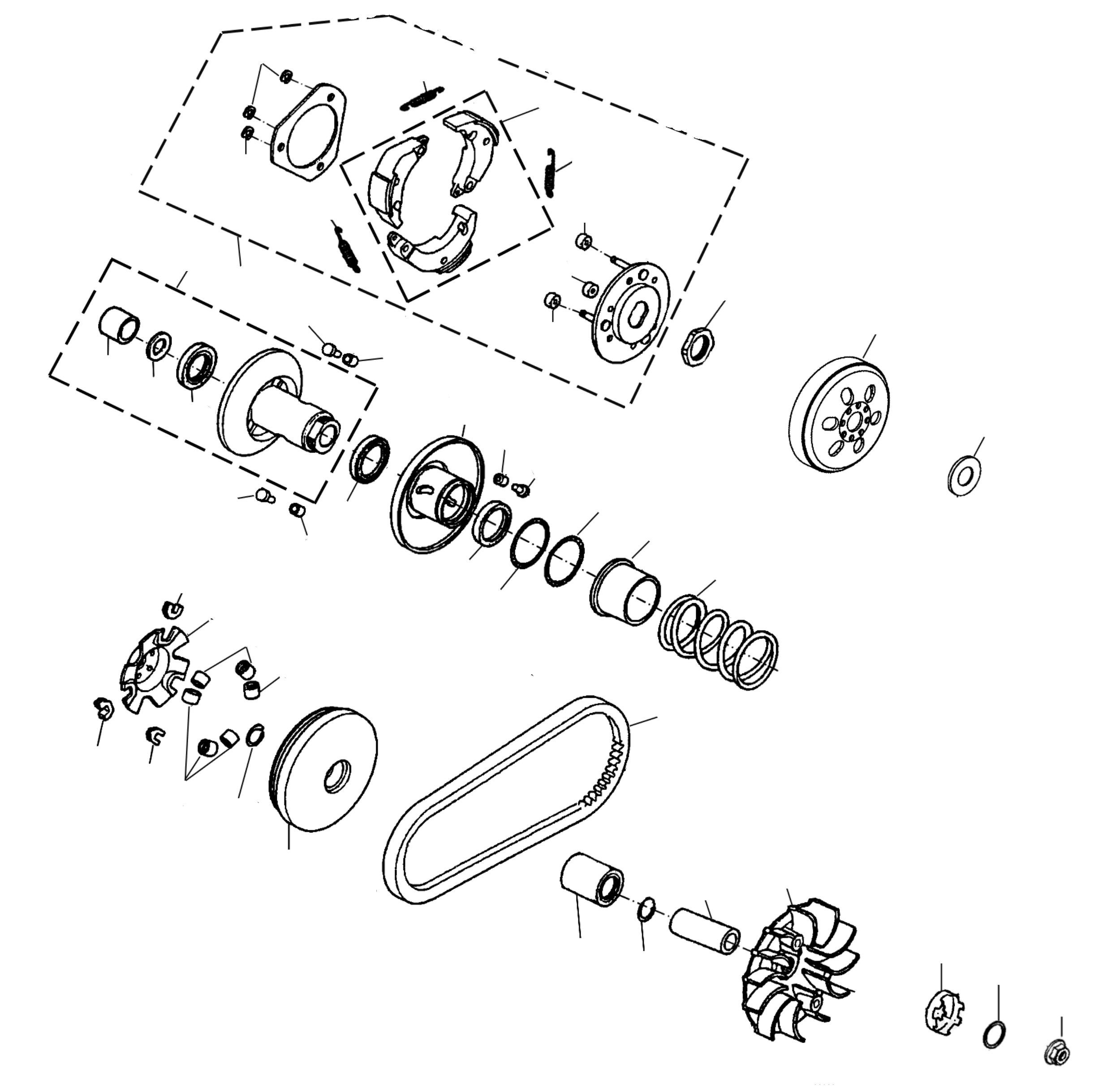 Variomatik, Kupplung, Keilriemen
