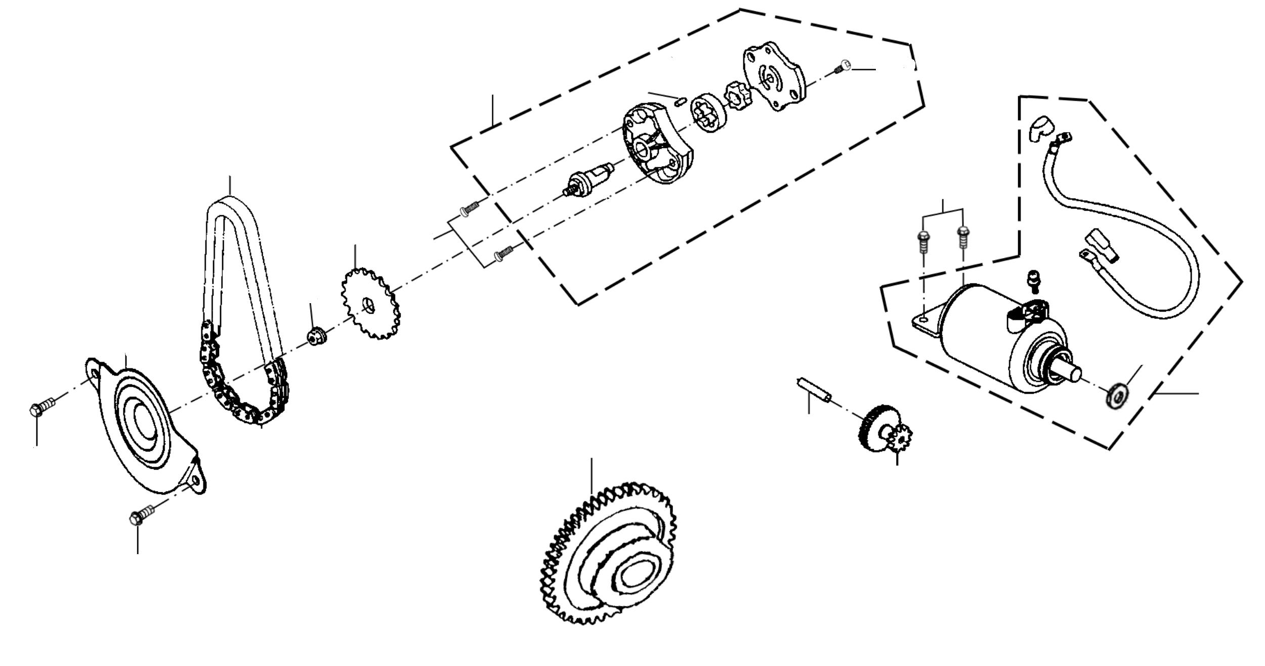 Ölpumpe, Anlasser