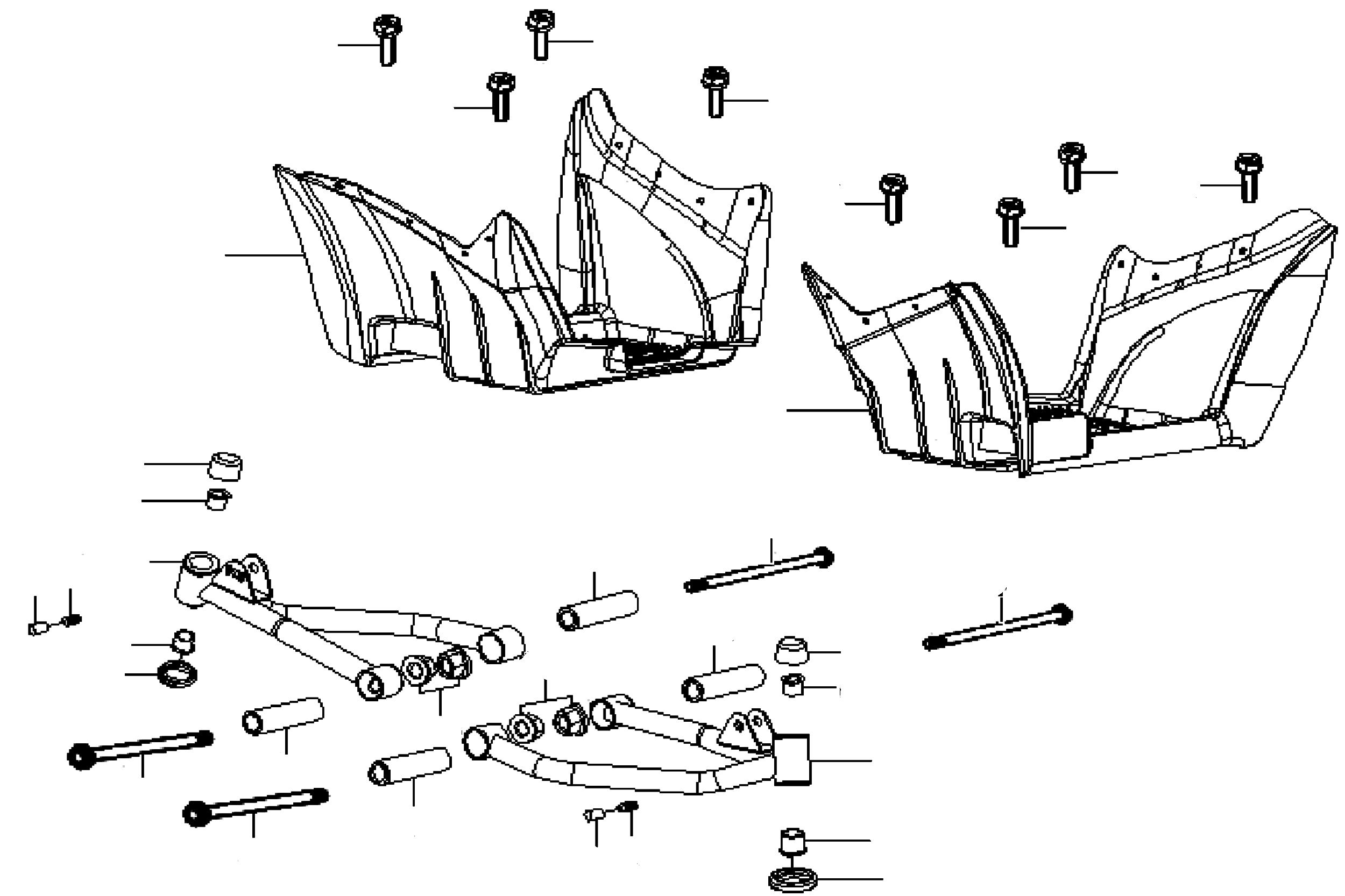 Dreieckslenker / Trittbretter