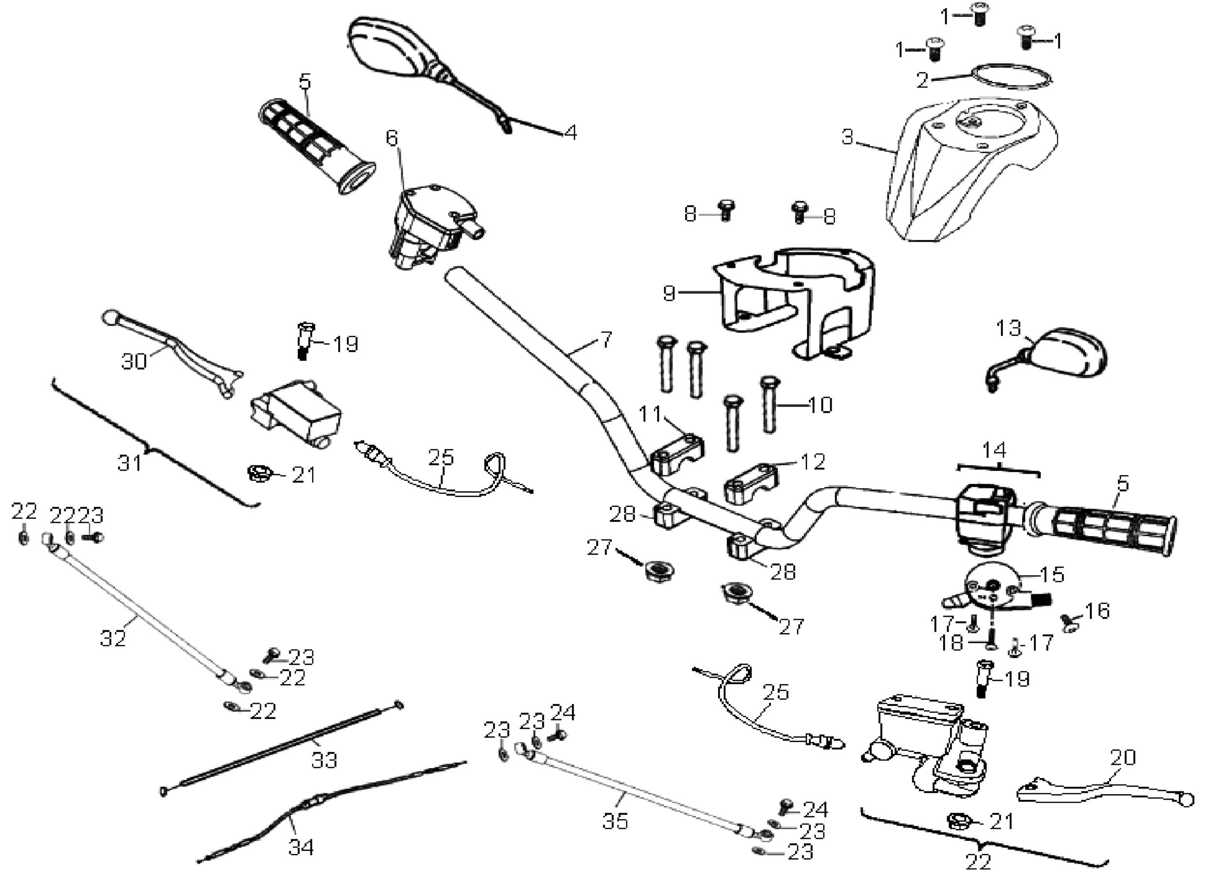 Lenker / Züge / Griffe / Schalter / Spiegel